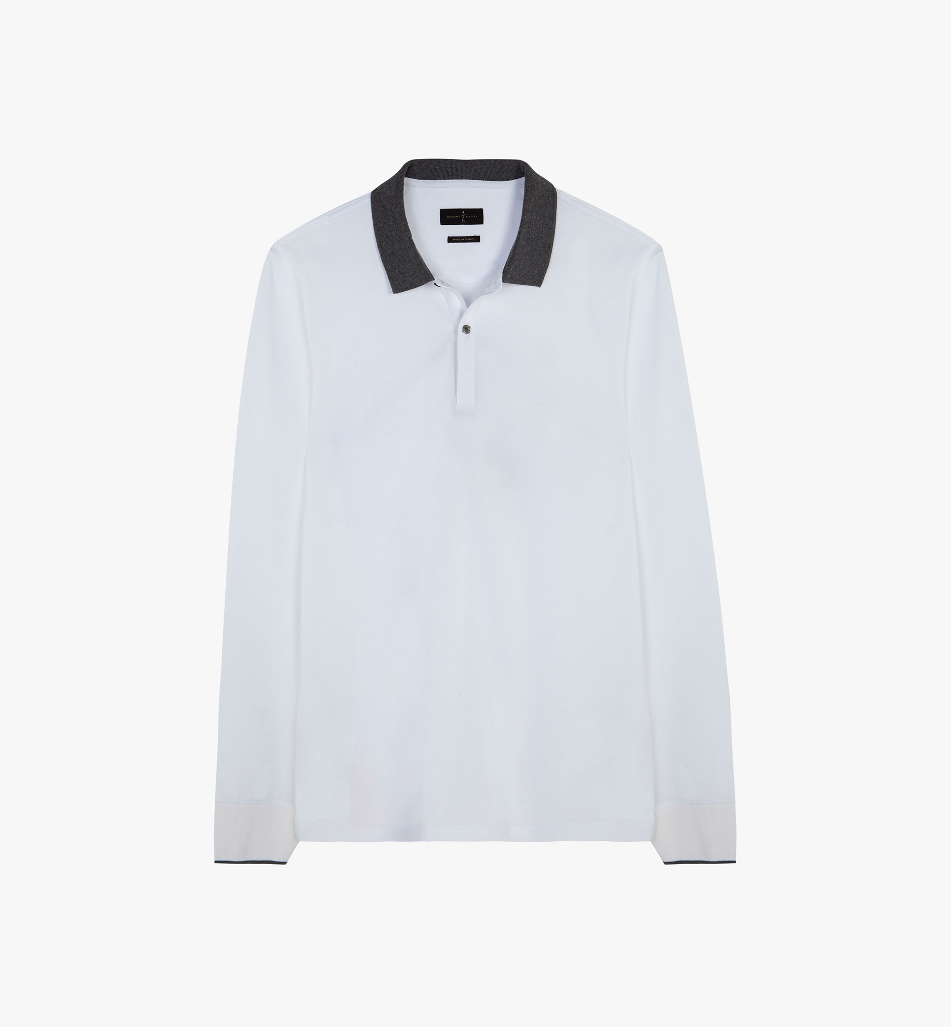 SOFT PLAIN POLO SHIRT WITH CONTRASTING DETAIL