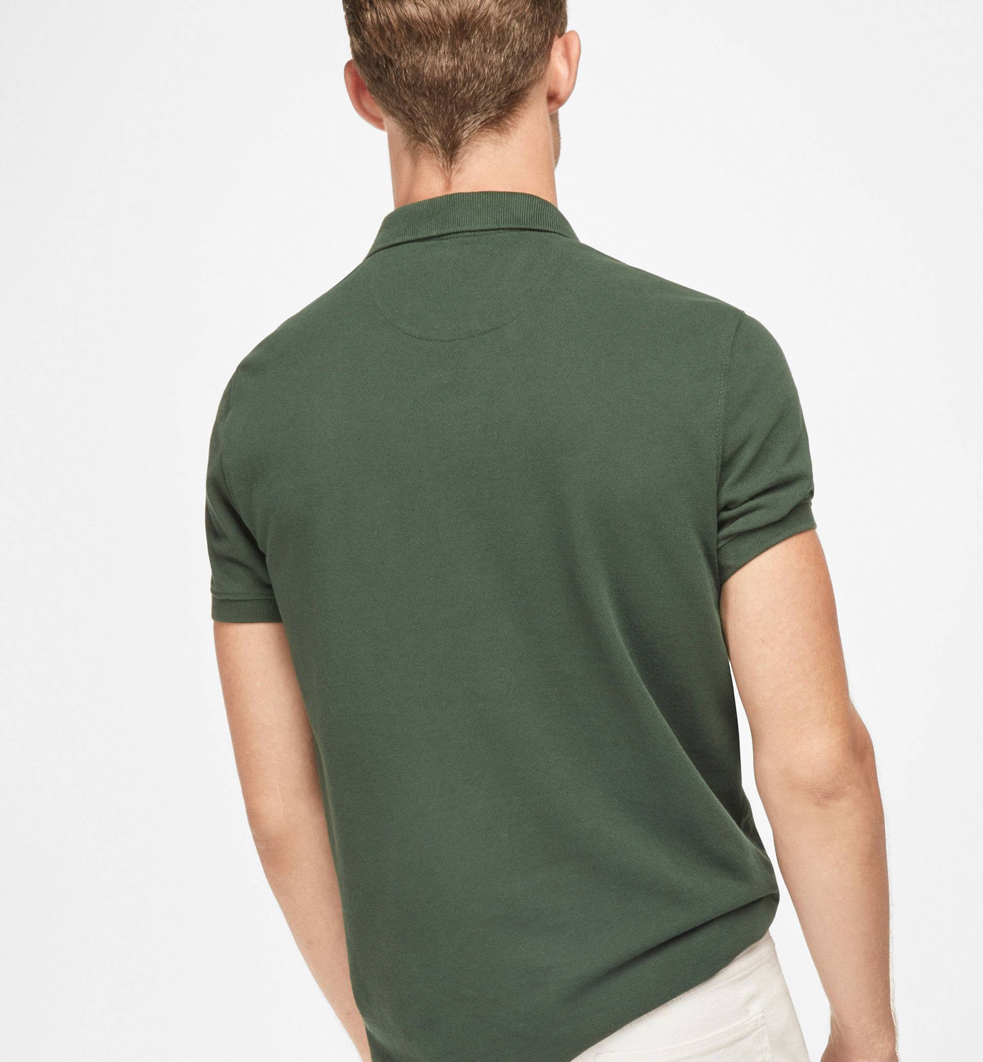 BASIC POLO SHIRT WITH CREST DETAIL