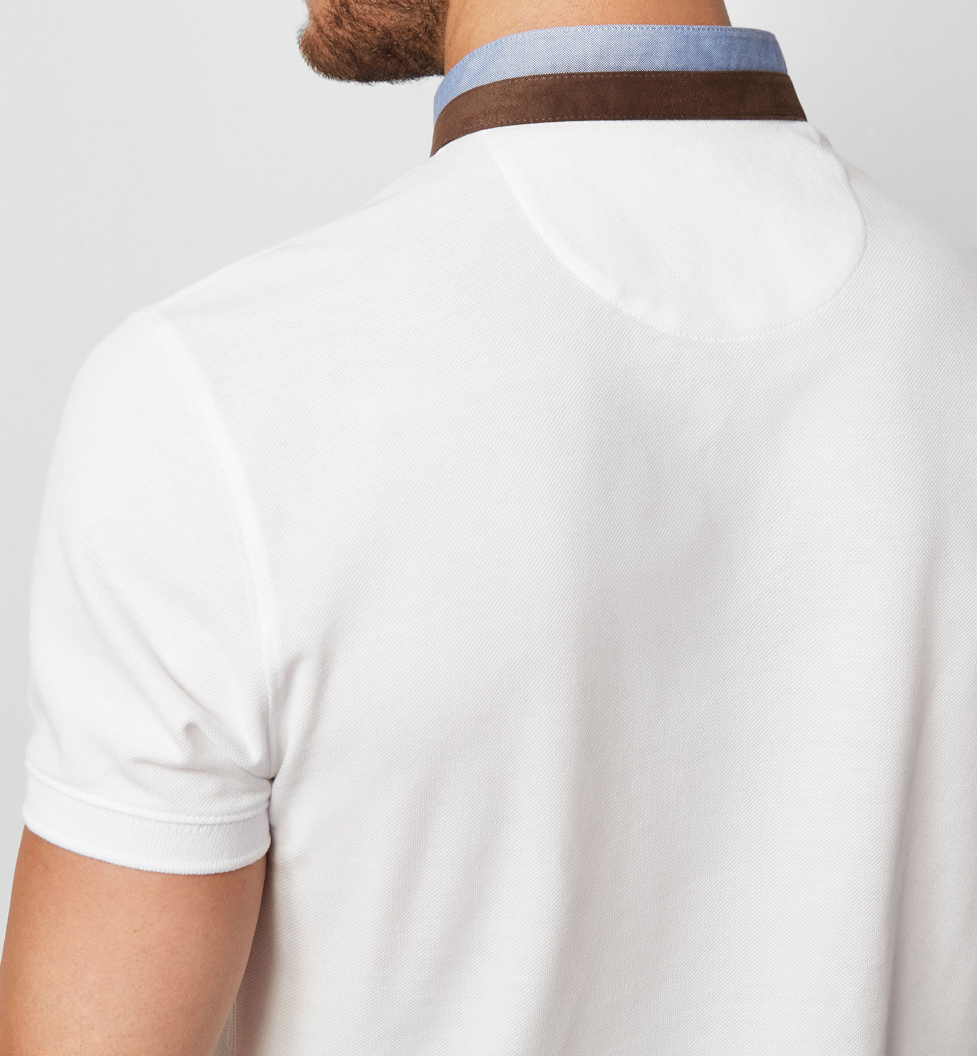 LIMITED EDITION POLO SHIRT WITH LEATHER CREST