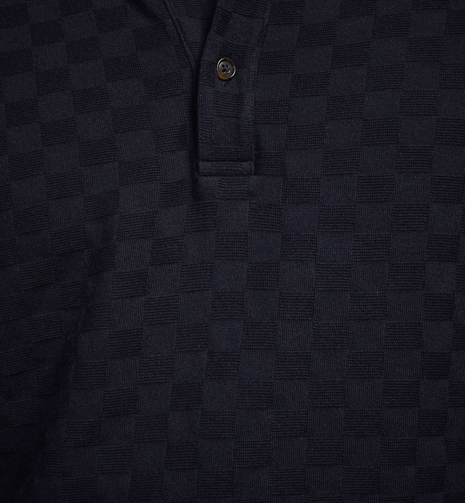 LIMITED EDITION CHECK TEXTURED WEAVE POLO SHIRT