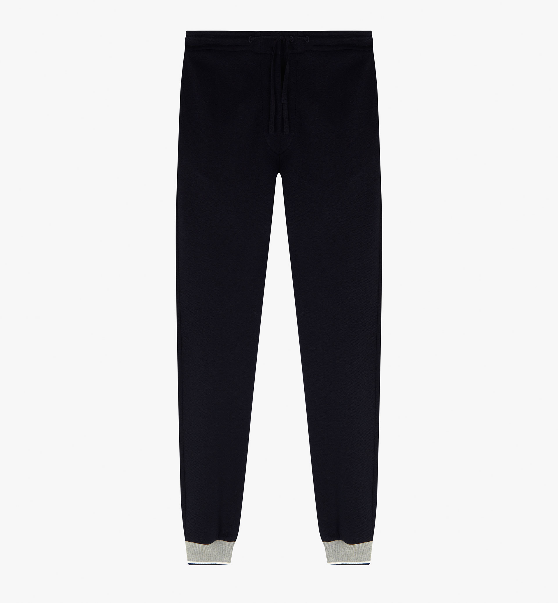 SOFT TROUSERS WITH A CONTRASTING HEM DETAIL