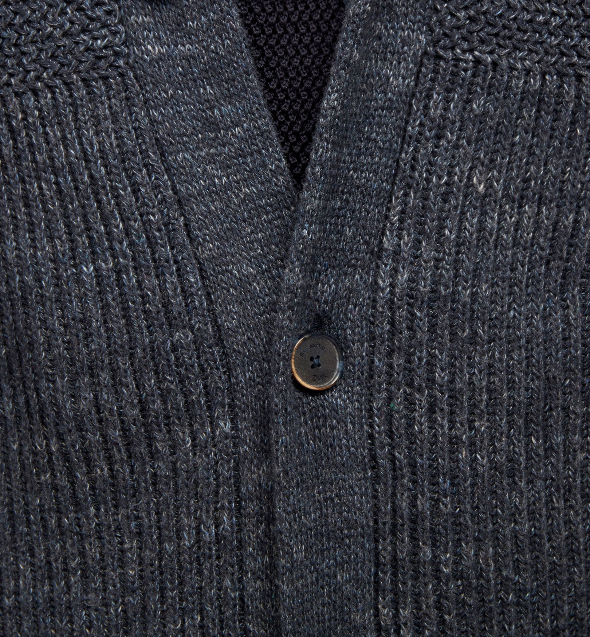 INDIGO CARDIGAN WITH LAPELS