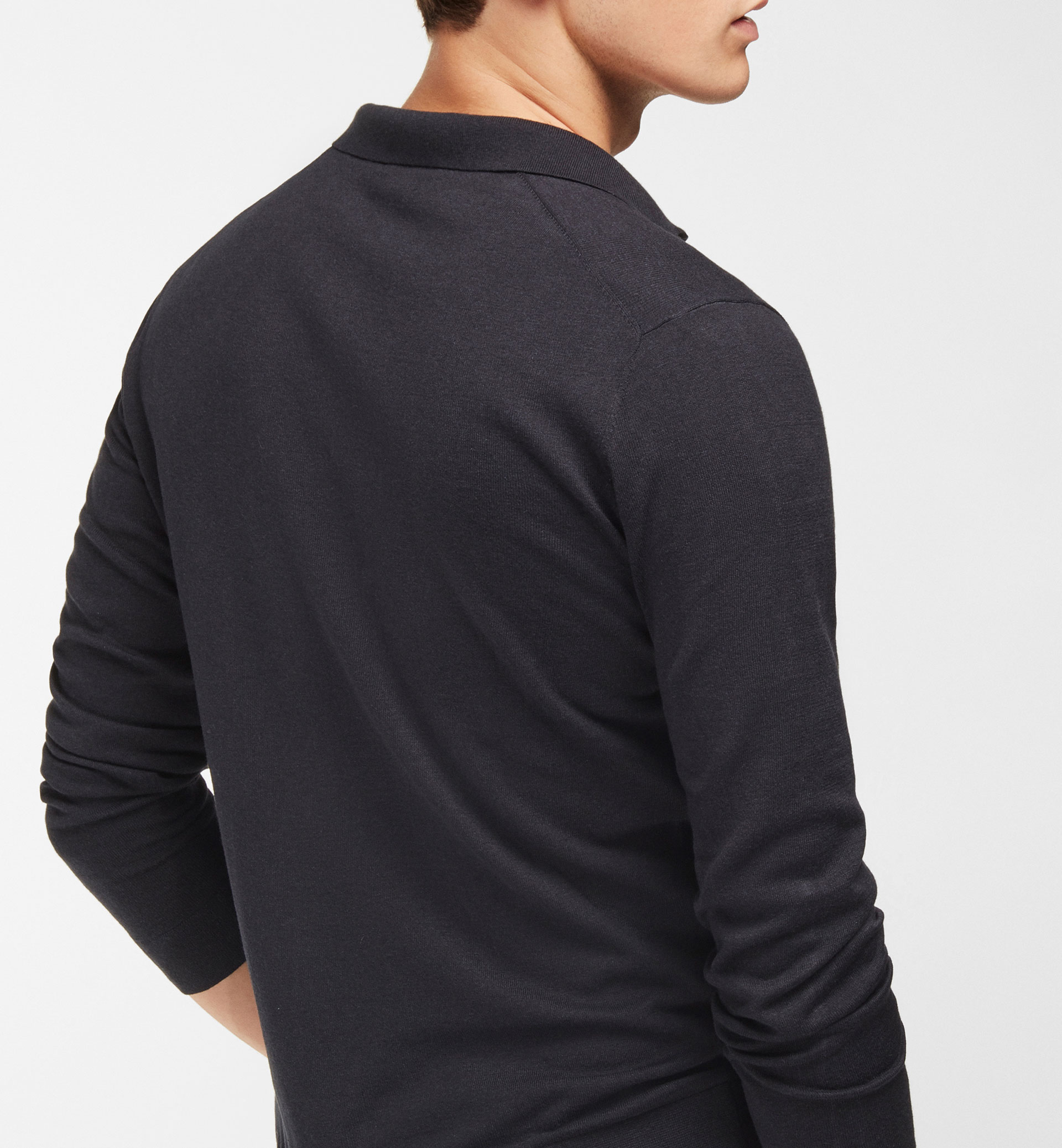 SWEATER WITH POLO NECK