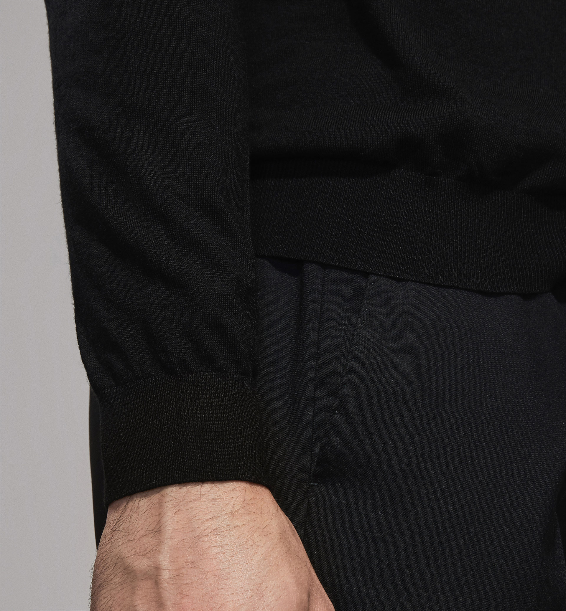 PERSONAL TAILORING 100% MERINO WOOL SWEATER WITH POLO NECK