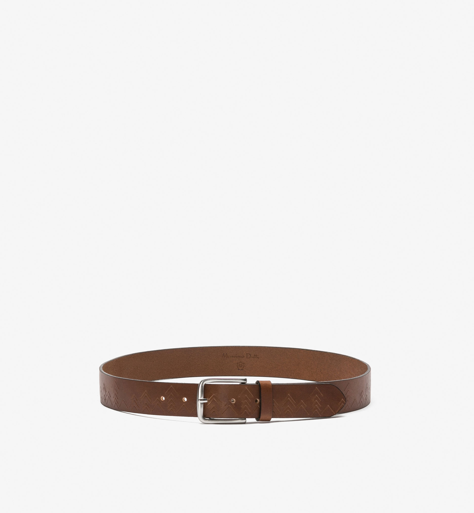 GEOMETRIC PRINT LEATHER BELT