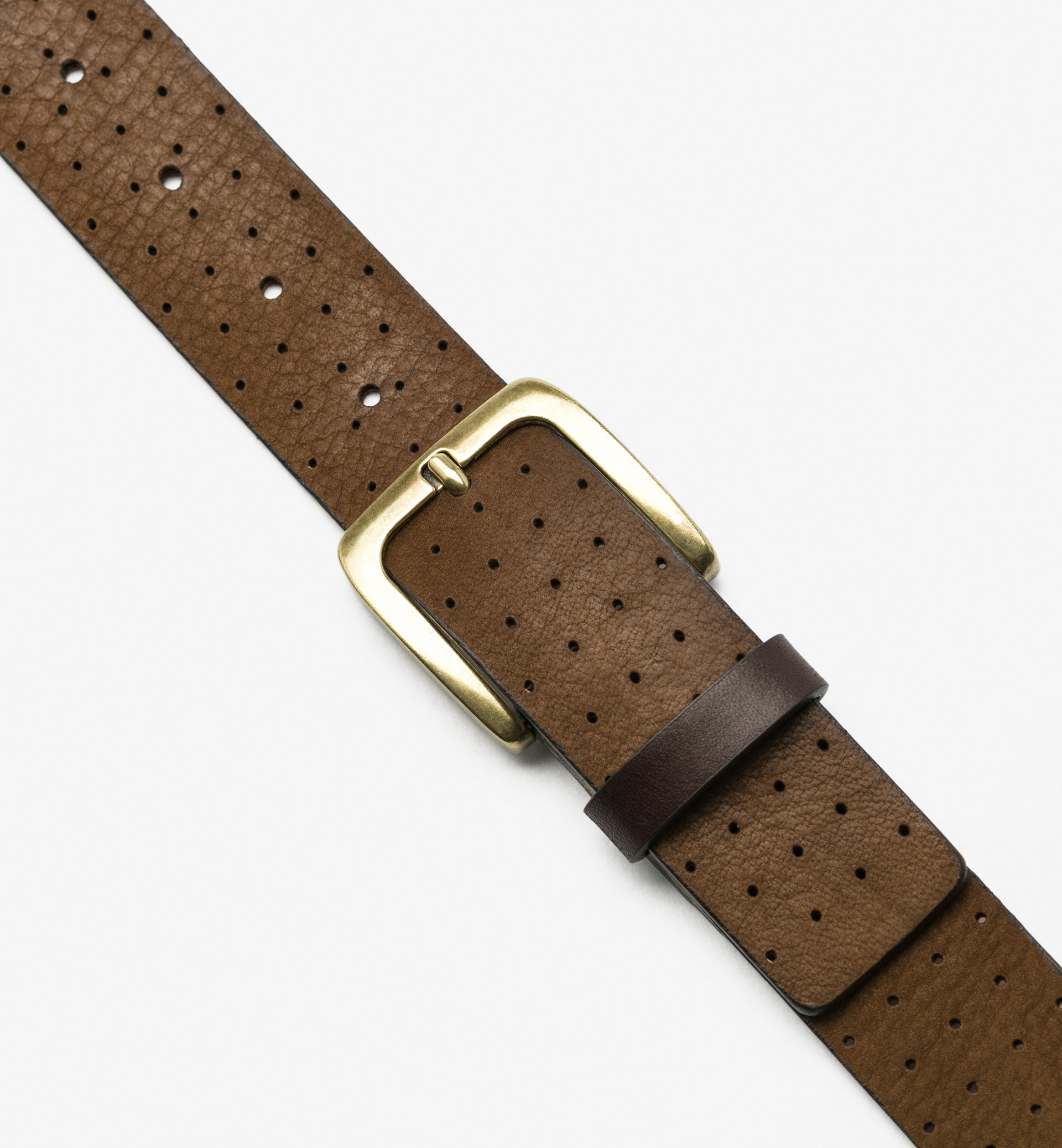 CUT WORK NUBUCK BELT