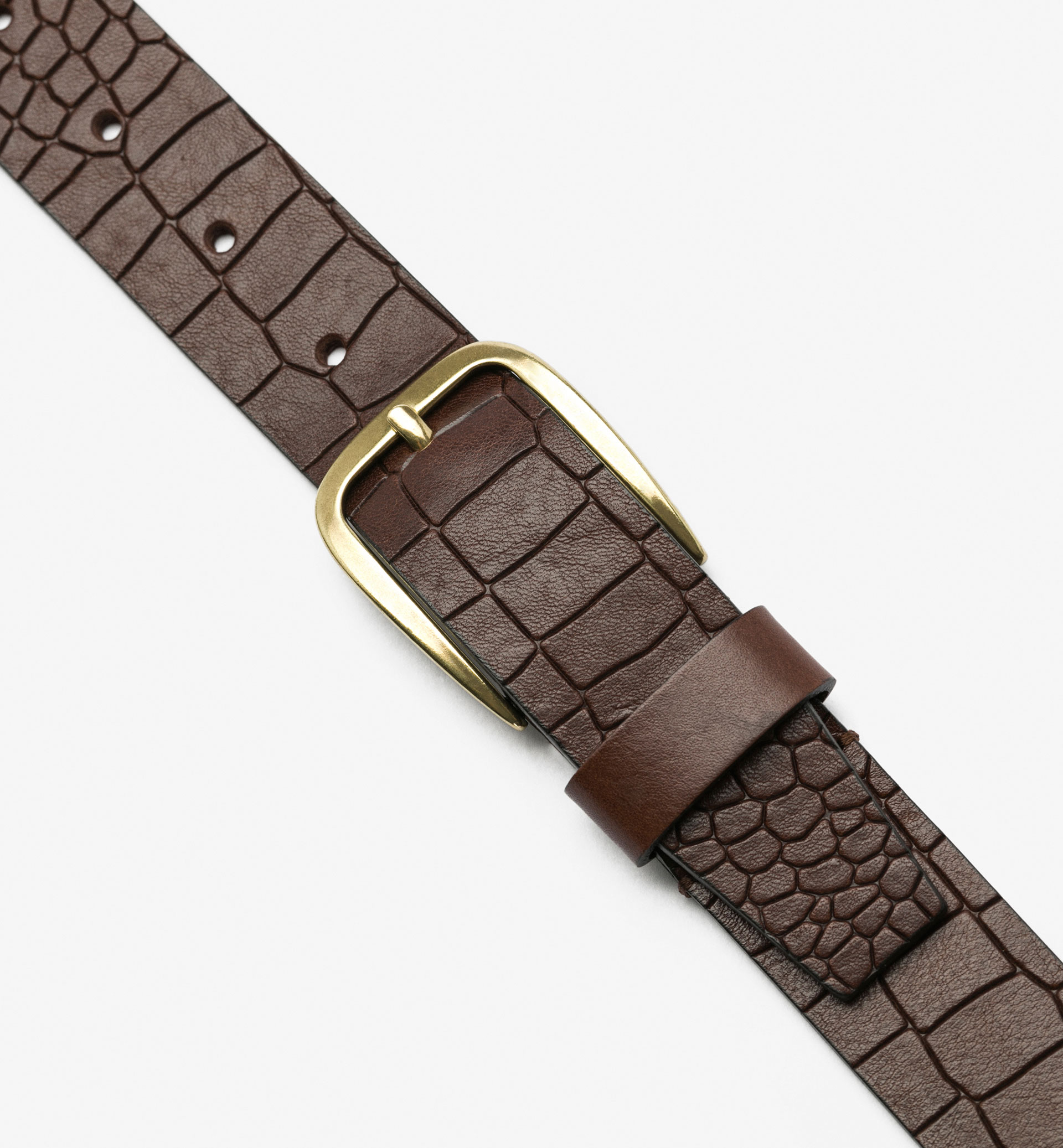 NAPPA BELT WITH MOCK-CROC EMBOSSING