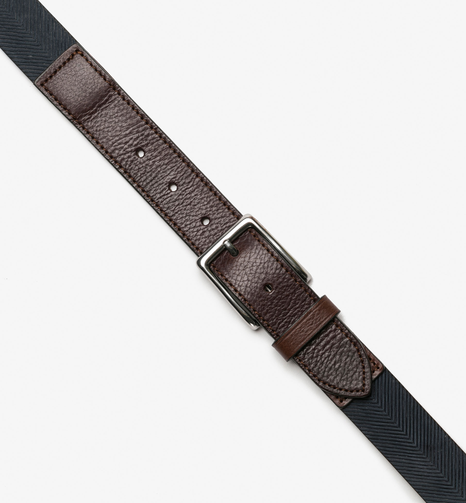 HERRINGBONE EMBOSSED BELT