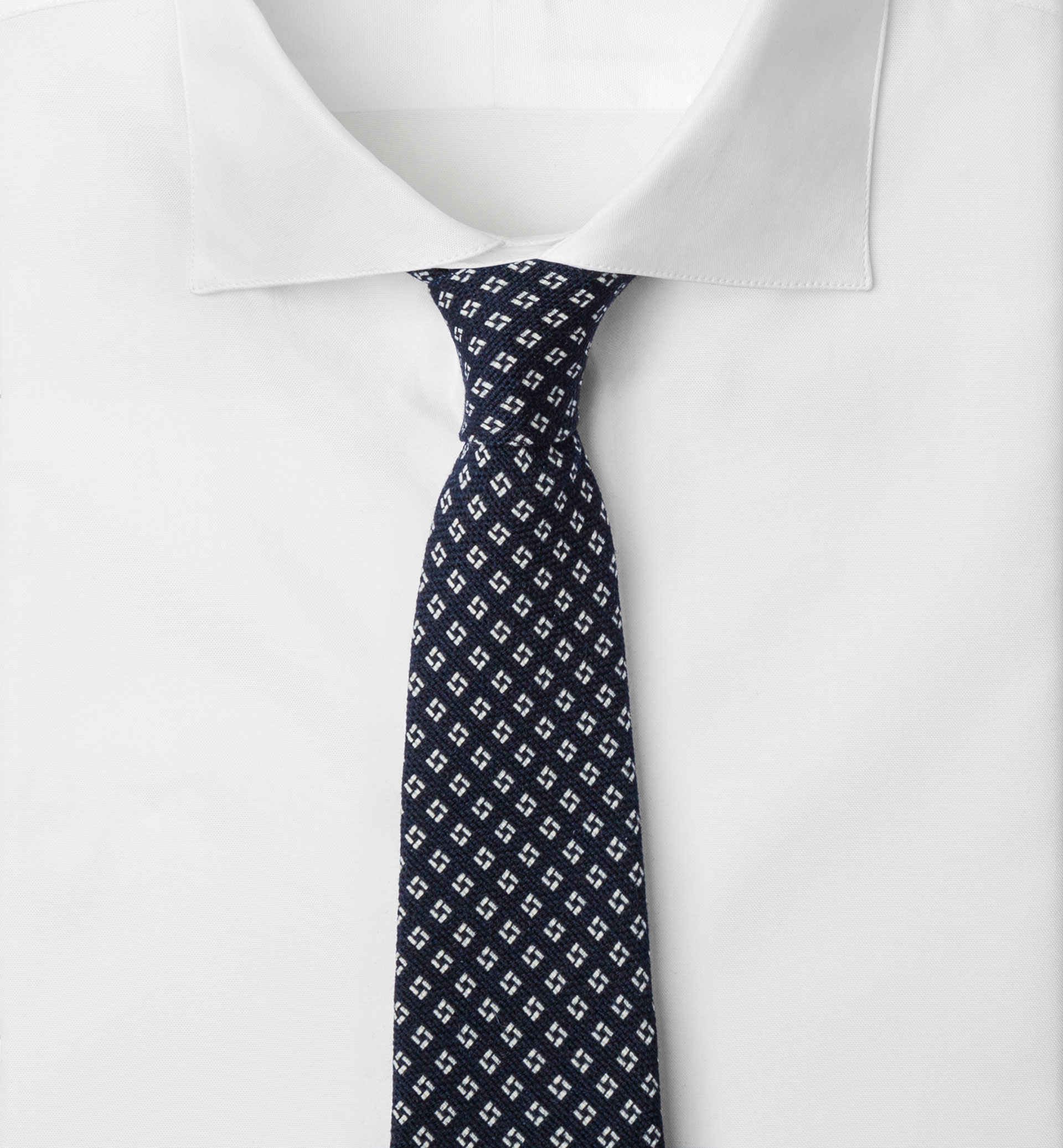 LIMITED EDITION GEOMETRIC DESIGN WOOL TIE