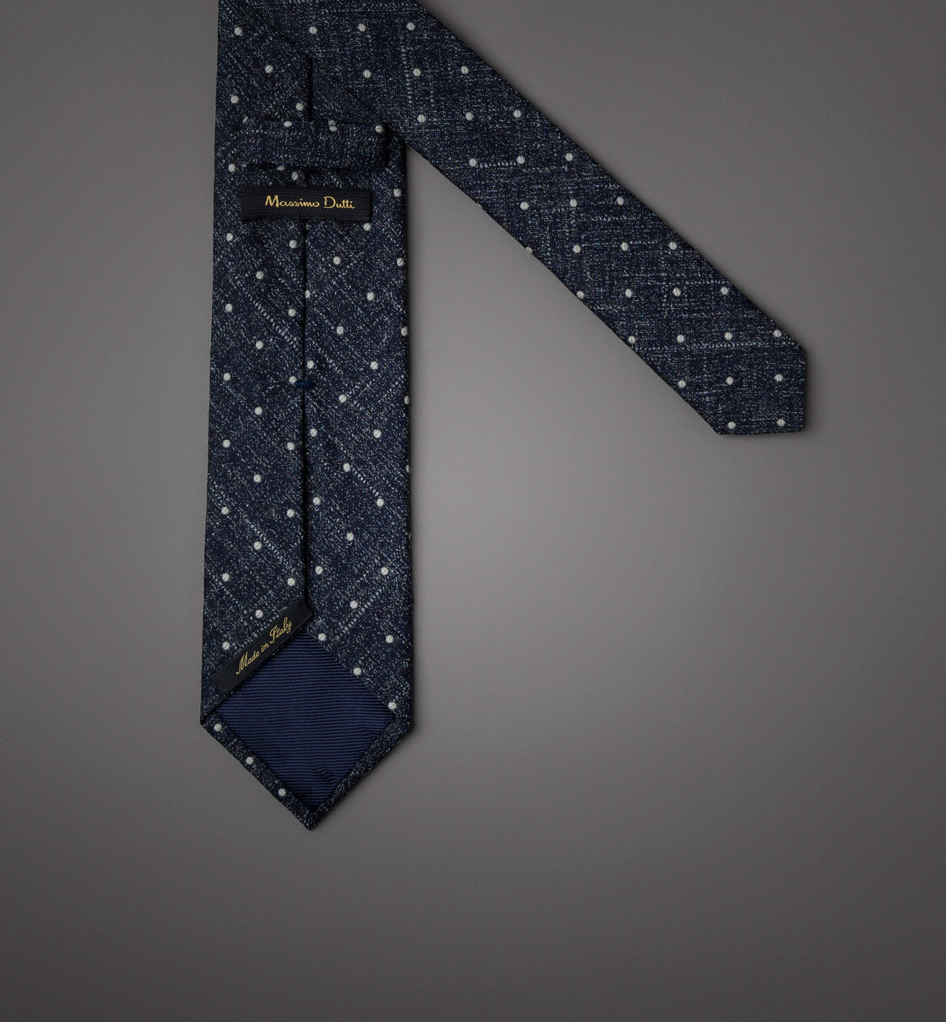 LIMITED EDITION POLKA DOT WOOL/SILK TIE