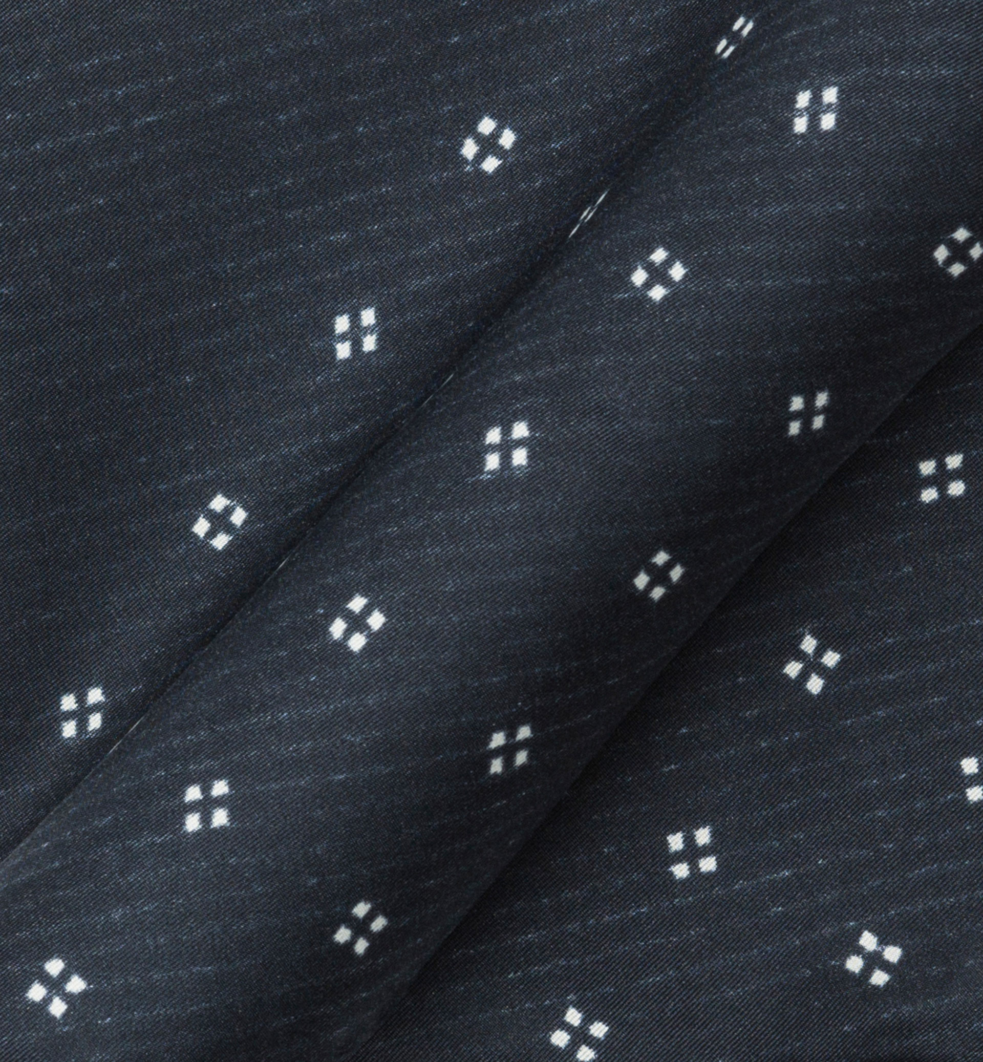 SILK GEOMETRIC MOTIF POCKET SQUARE