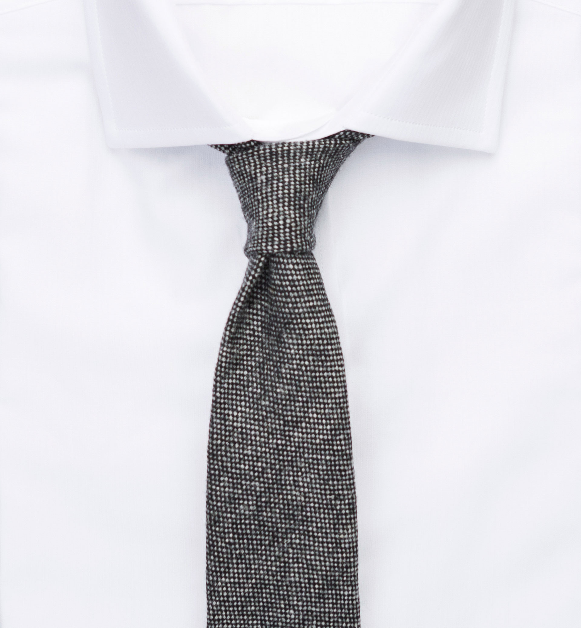 PERSONAL TAILORING FALSE PLAIN GREY RUSTIC TIE