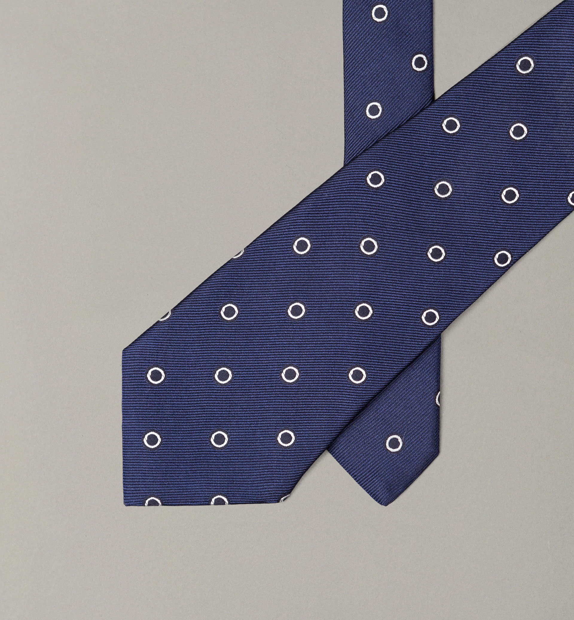 PERSONAL TAILORING BLUE CIRCLES TIE