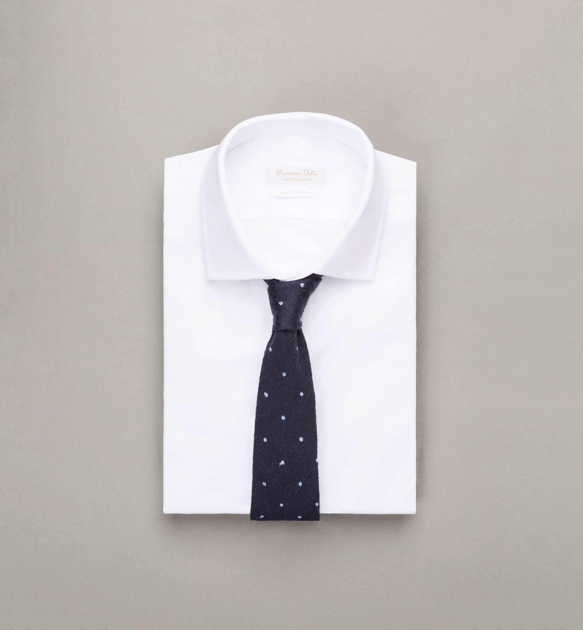 PERSONAL TAILORING SKY BLUE POLKA DOT RUSTIC TIE