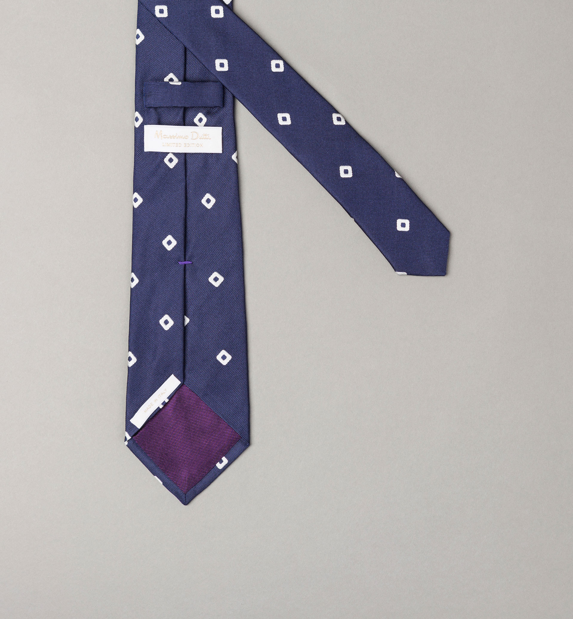 PERSONAL TAILORING BLUE POLKA DOT AND ARGYLE TIE