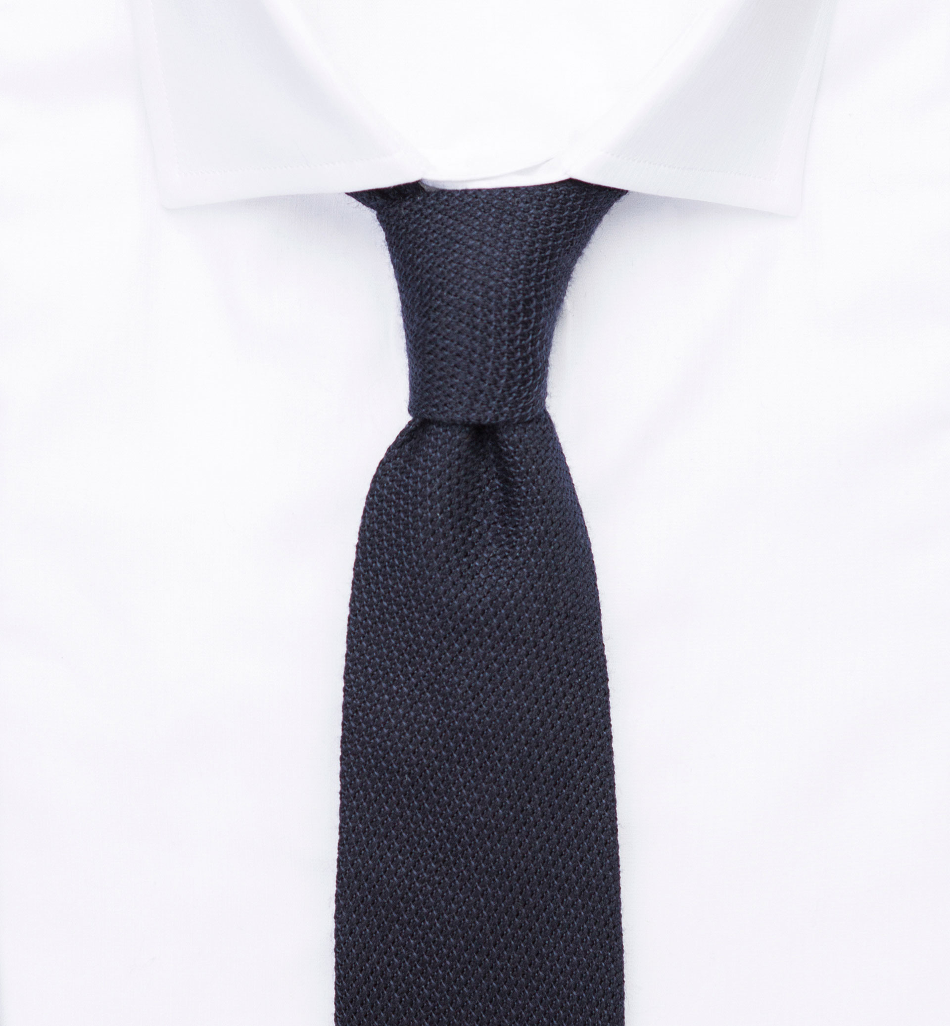PERSONAL TAILORING PLAIN NAVY BLUE TEXTURED TIE