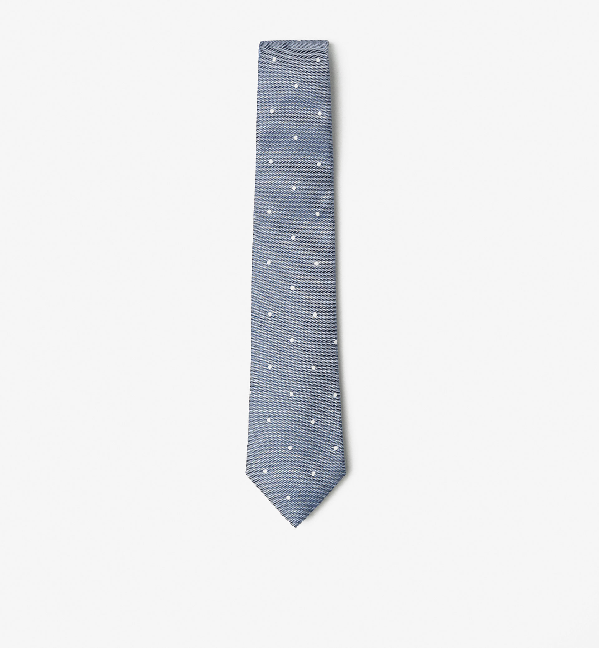 TIE WITH WHITE POLKA DOTS