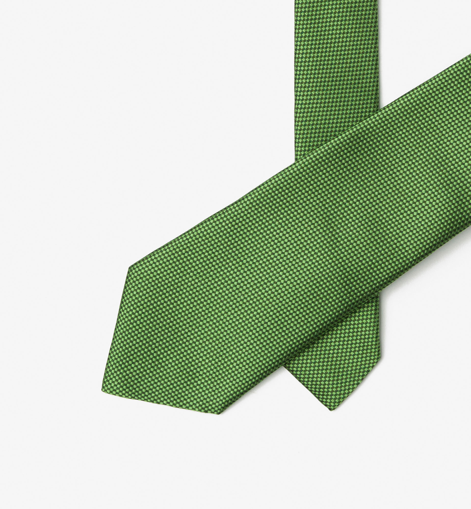 GREEN FALSE PLAIN TIE