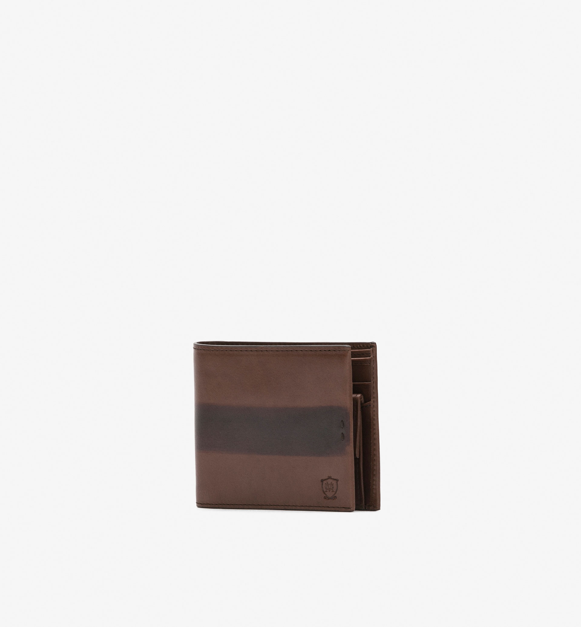 TWO-TONE LEATHER WALLET