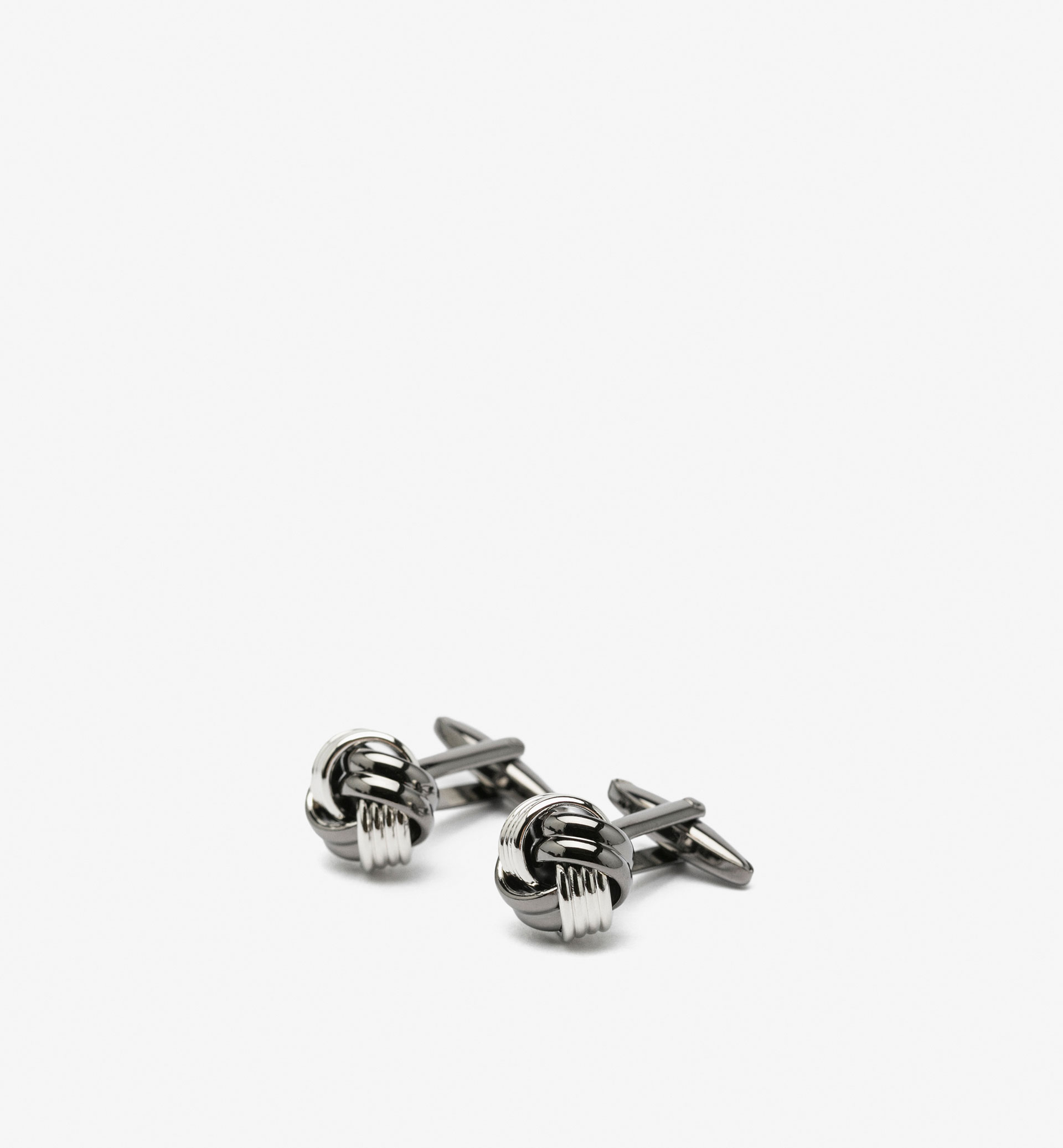 TWO-TONE KNOT DETAIL CUFFLINKS
