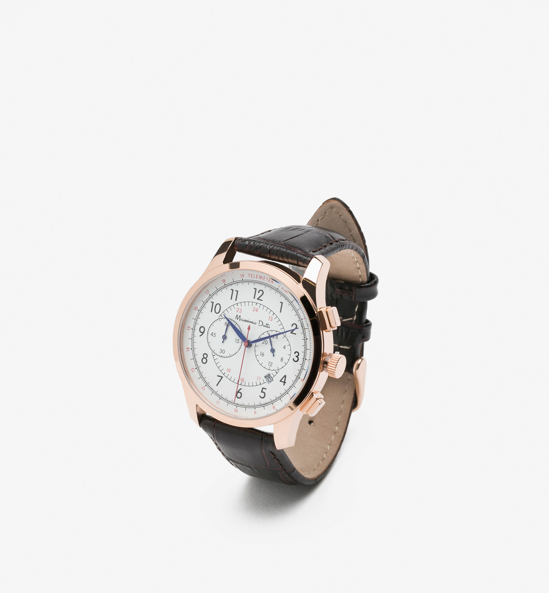 PRUSSIAN LEATHER WATCH