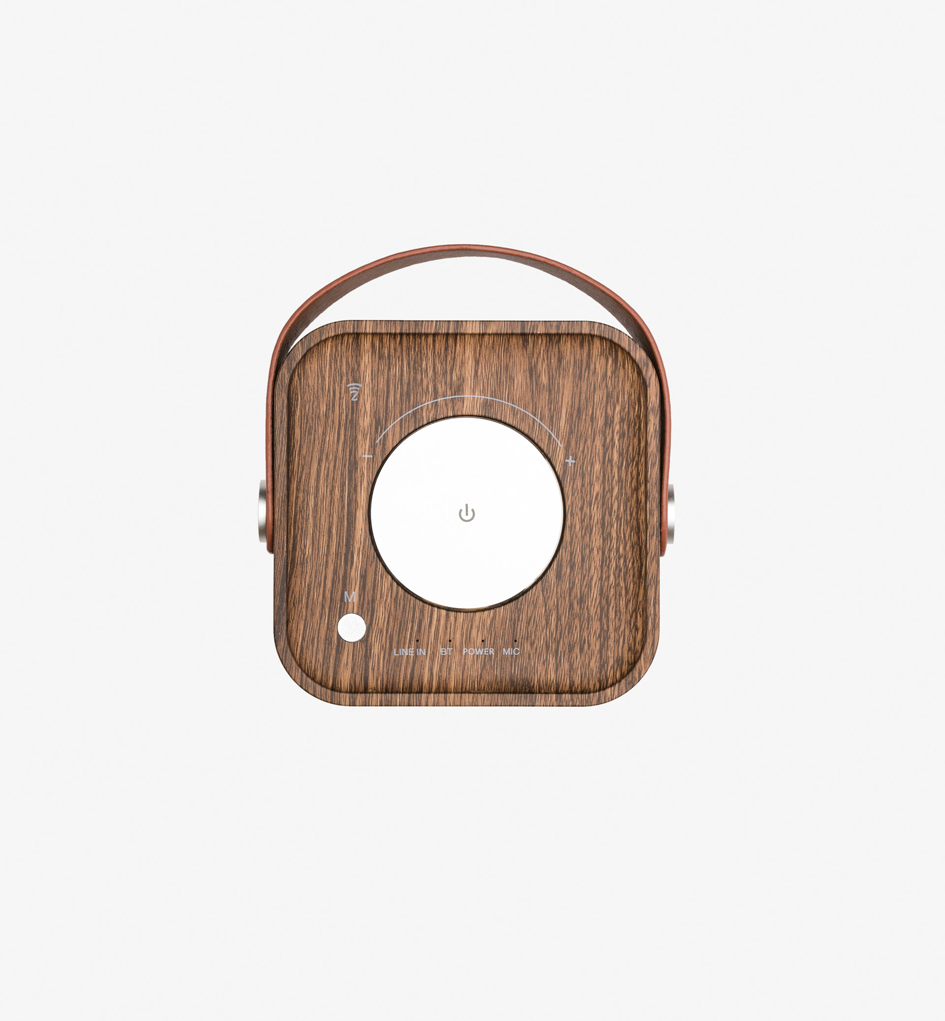 PORTABLE SPEAKERS WITH WOODEN DETAIL