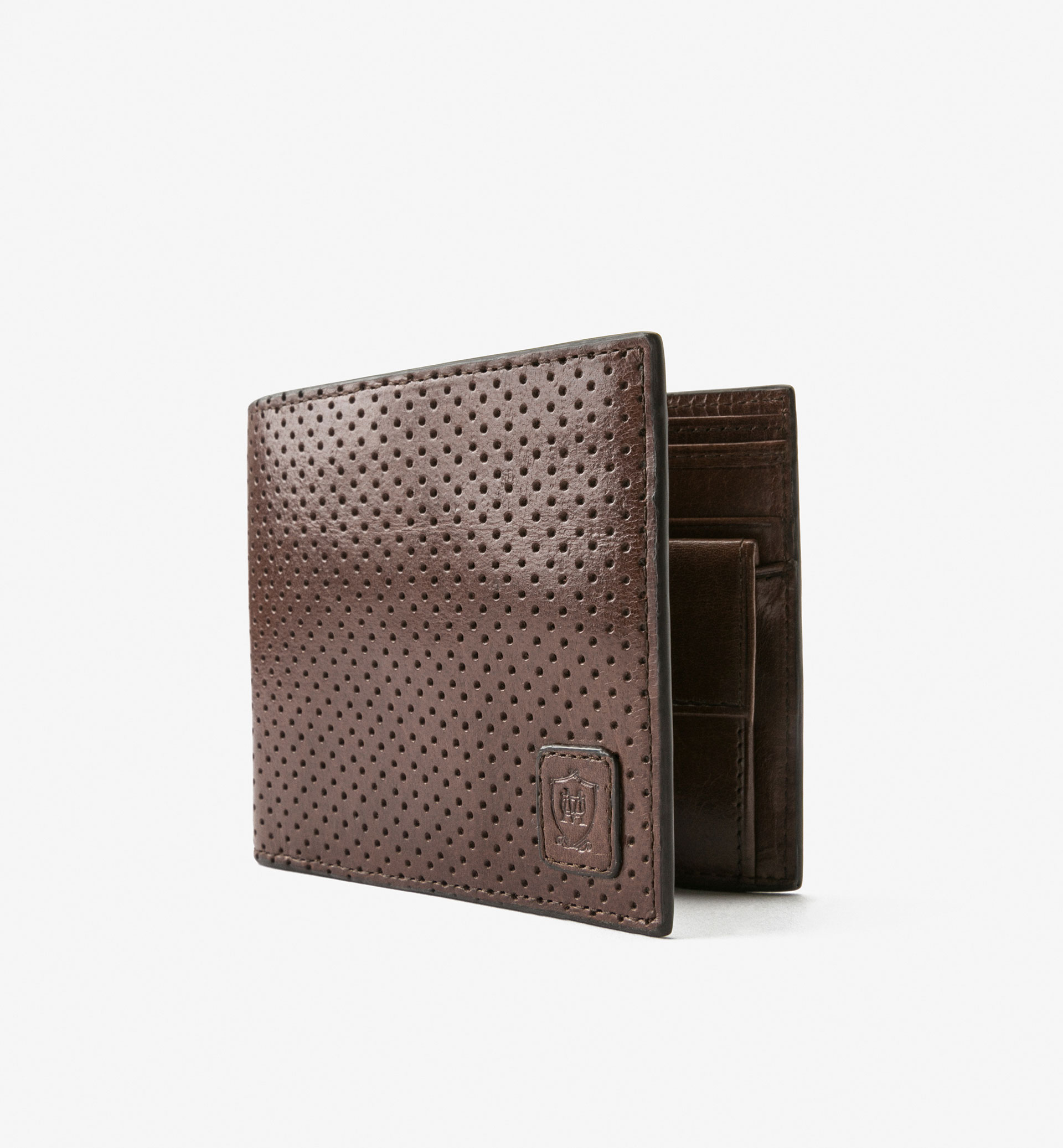 LIMITED EDITION LEATHER PERFORATED WALLET