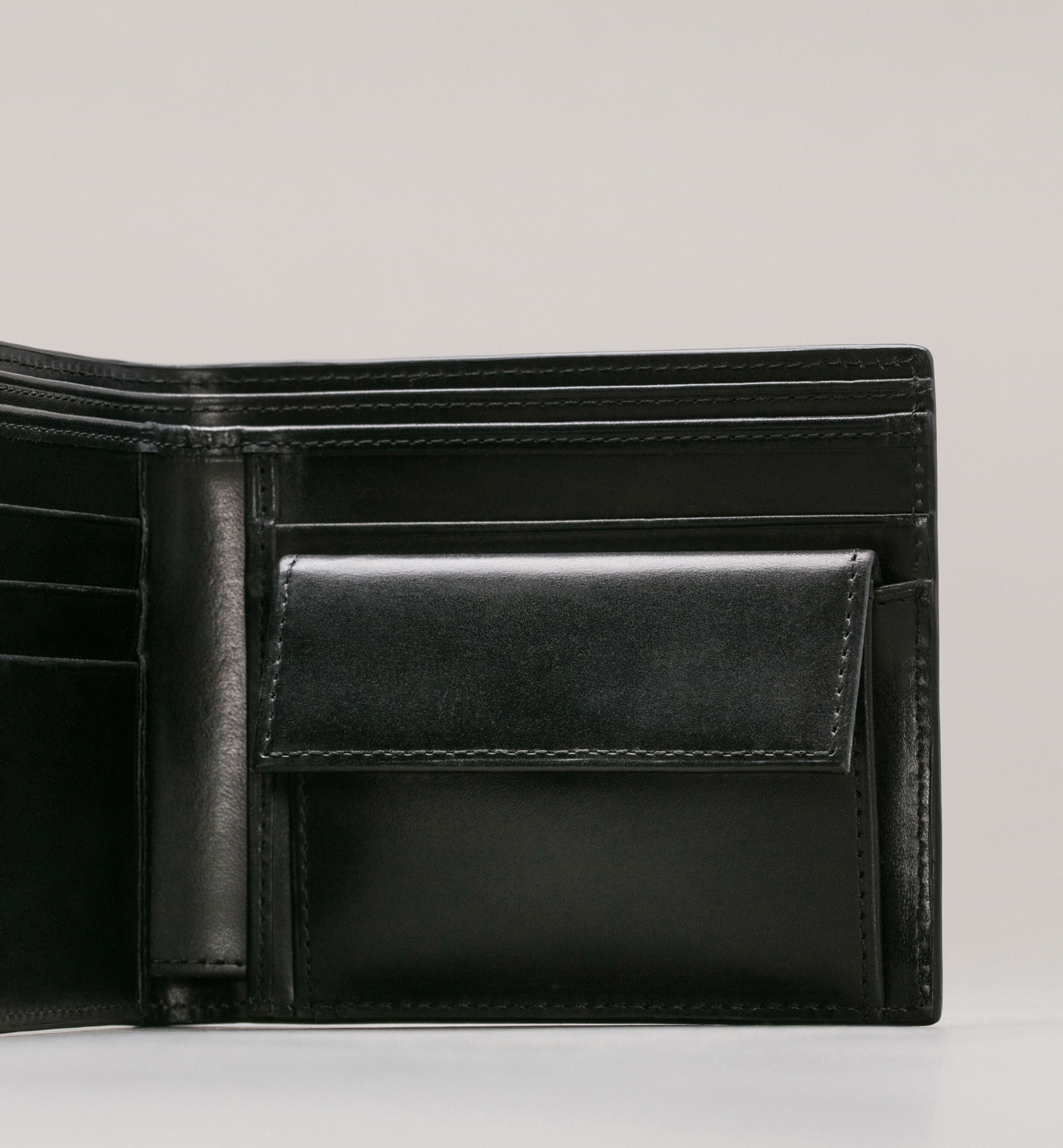 PERSONAL TAILORING LEATHER WALLET WITH COIN HOLDER