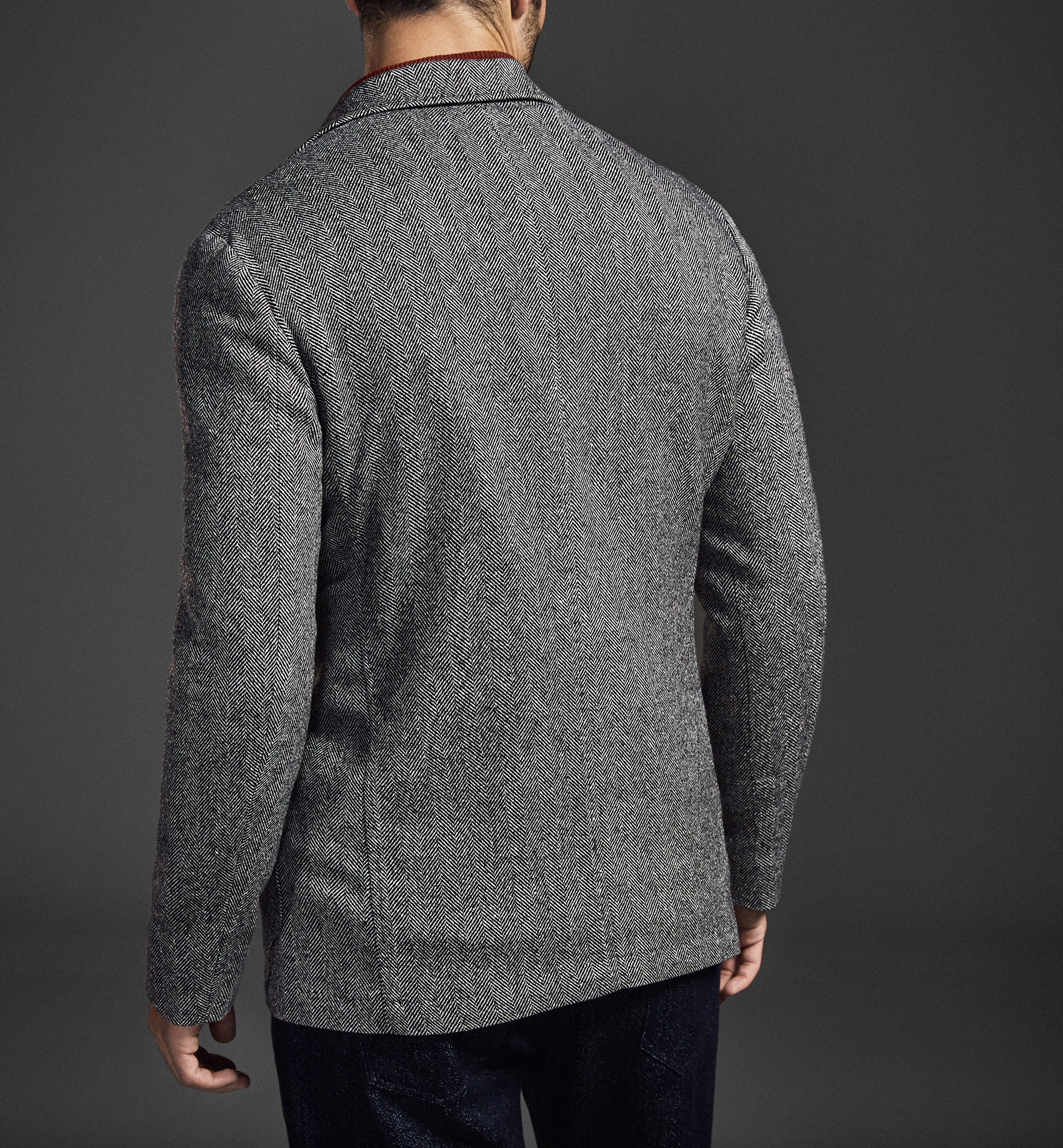 LIMITED EDITION WOOL HERRINGBONE BLAZER