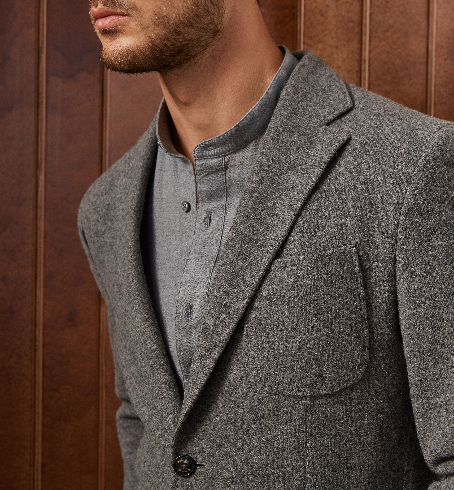 LIMITED EDITION WOOL BLAZER WITH ELBOW PATCHES