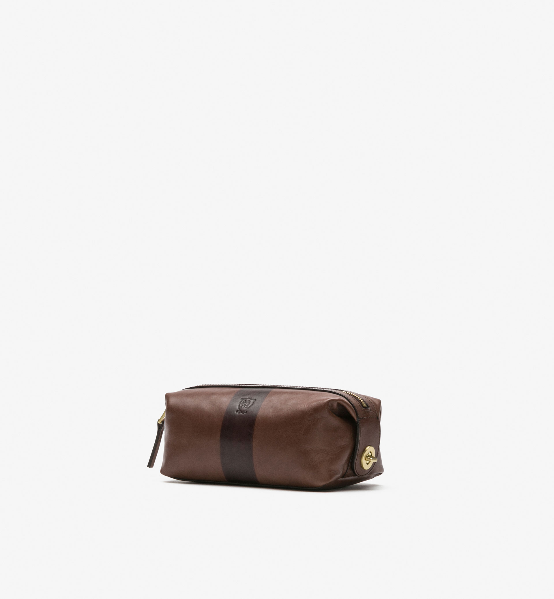 TWO-TONE LEATHER TOILETRY BAG