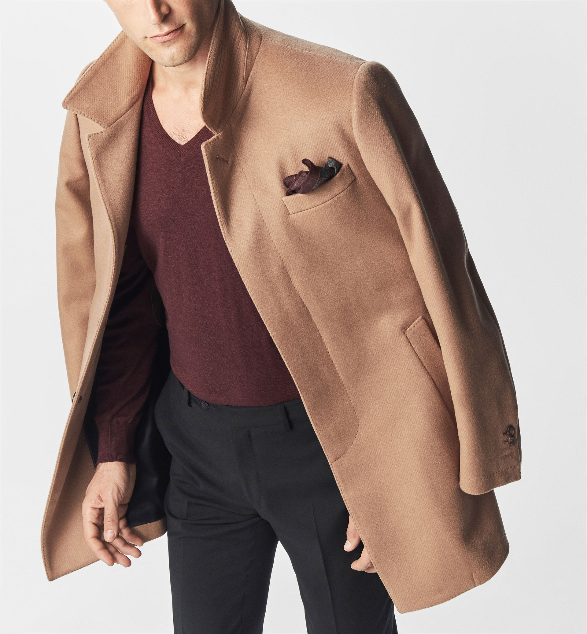 SMART CASHMERE/WOOL COAT