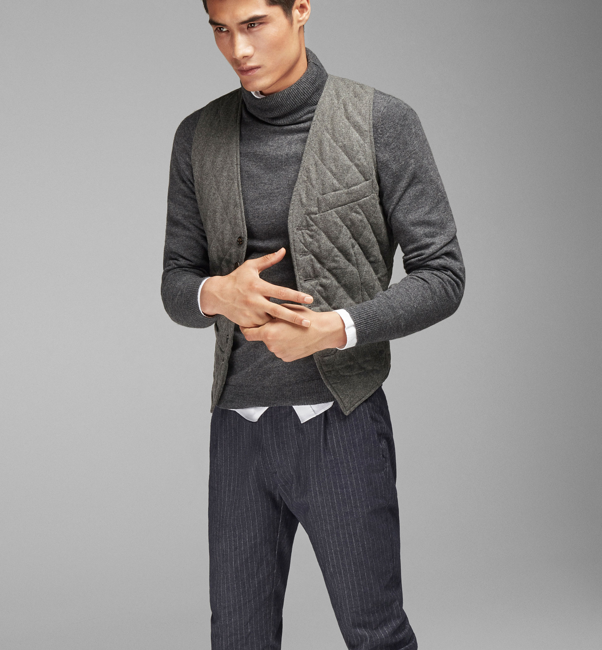 QUILTED WOOL WAISTCOAT
