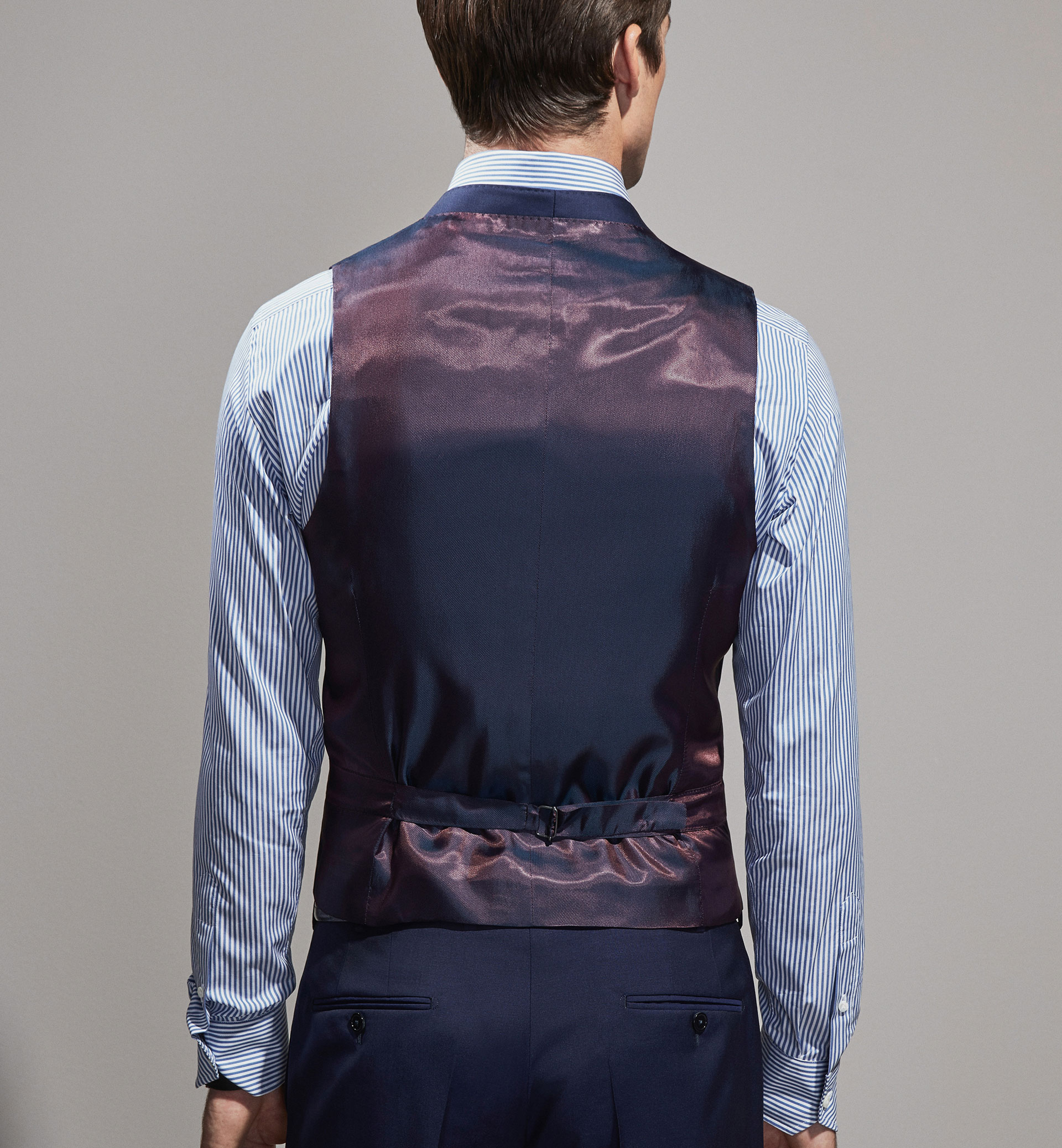 PERSONAL TAILORING BASIC BLUE WOOL WAISTCOAT
