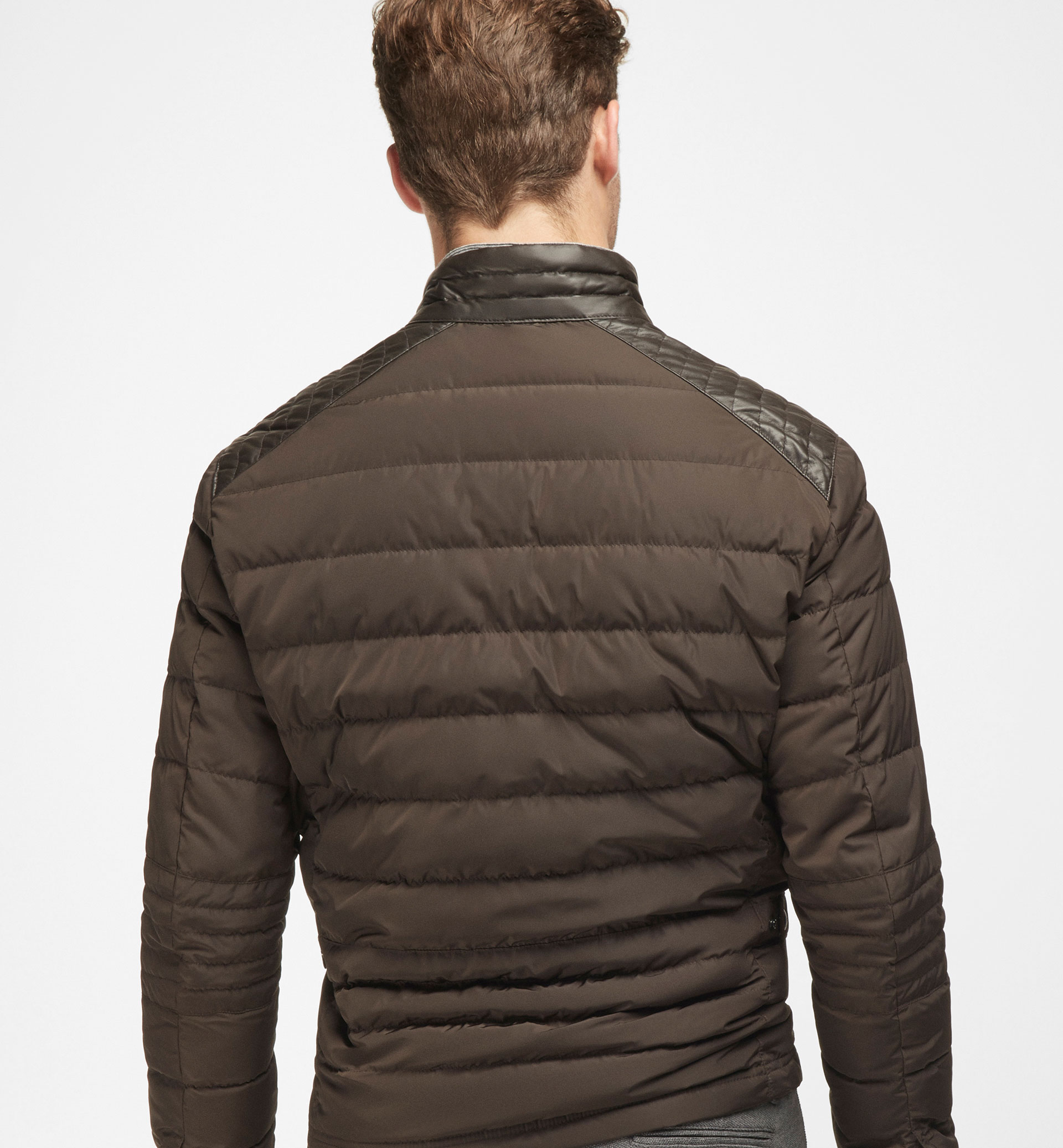 TECHNICAL CONTRASTING NAPPA QUILTED JACKET