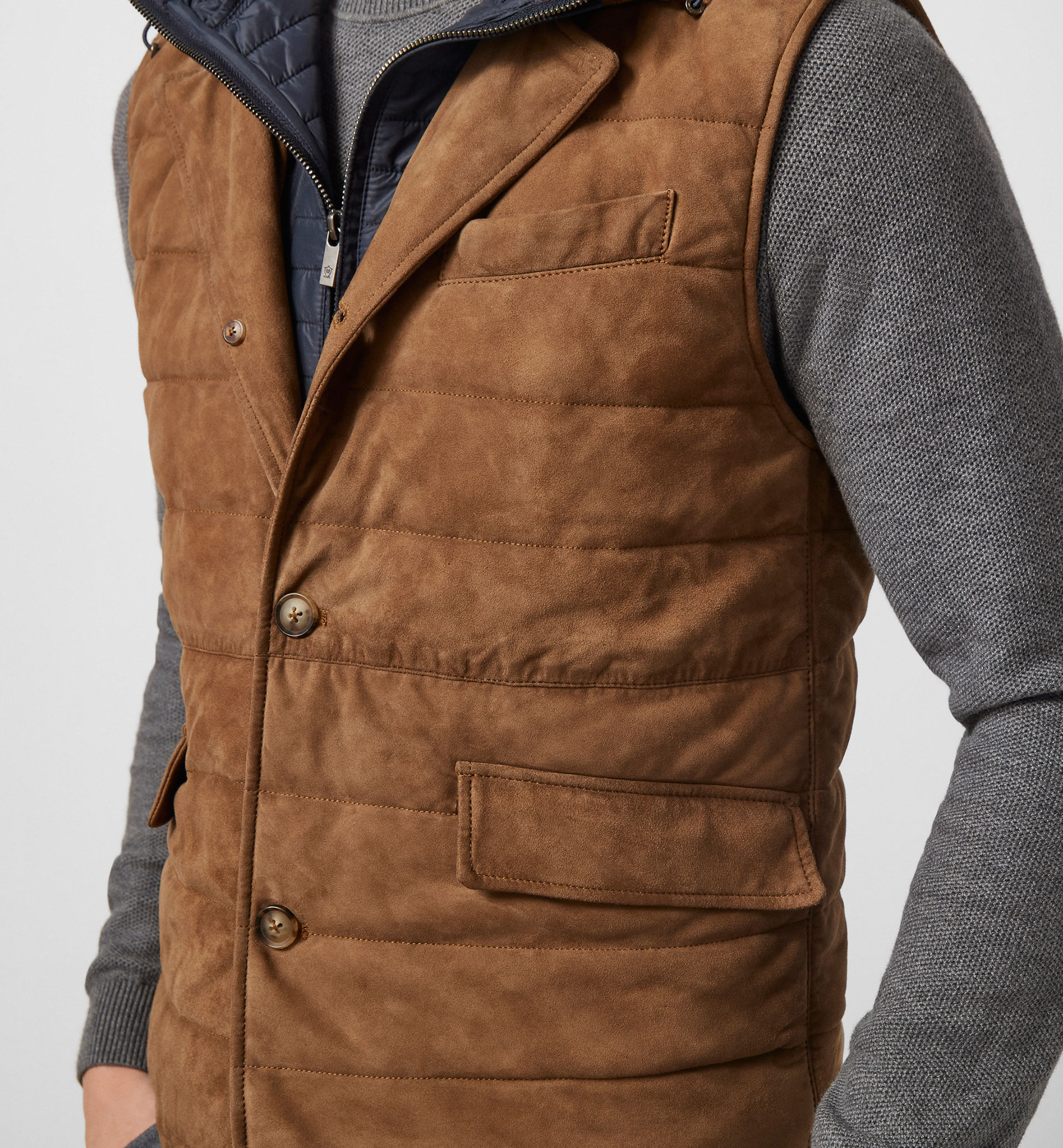 LIMITED EDITION HOODED SUEDE GILET