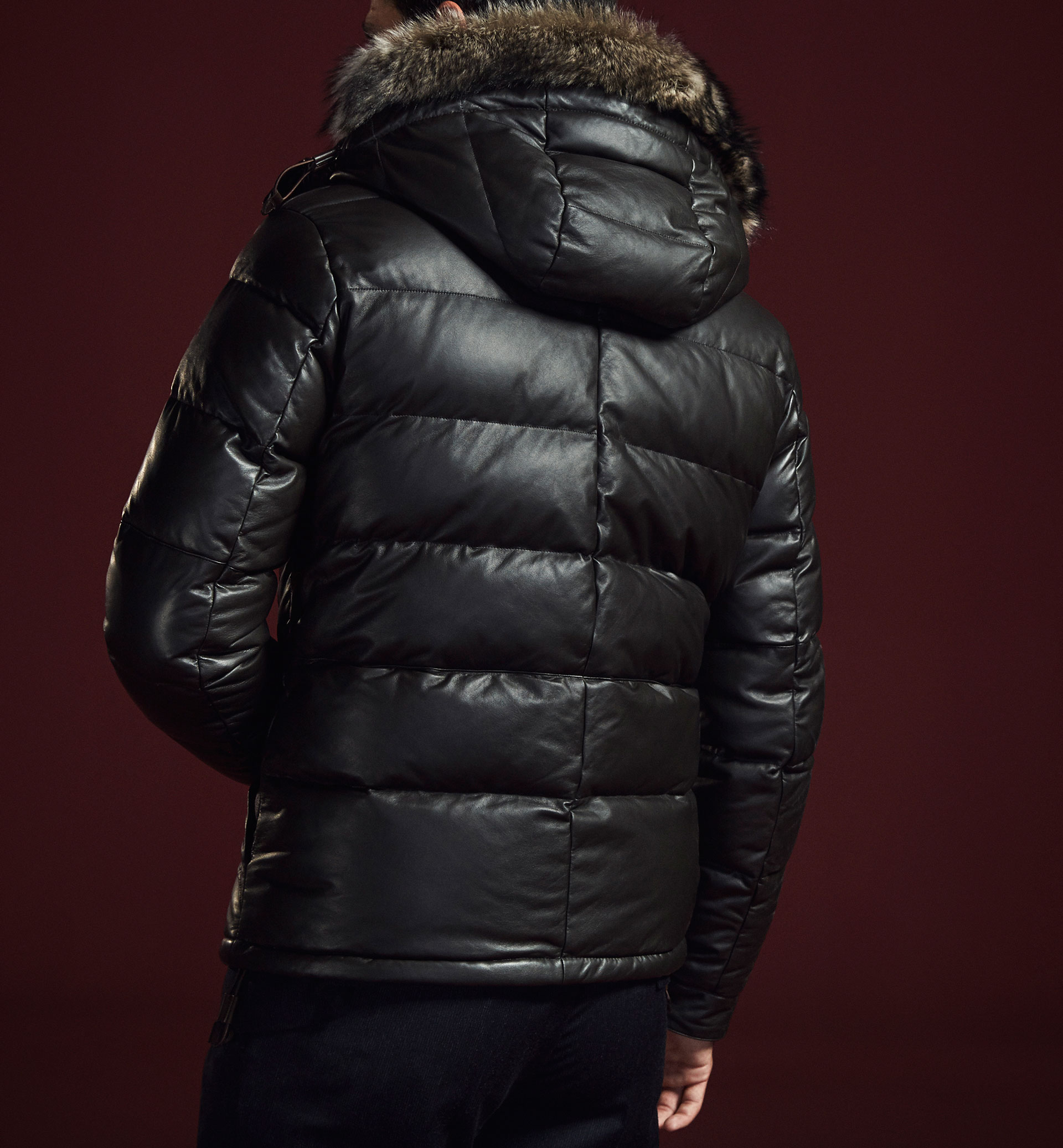 LIMITED EDITION QUILTED NAPPA THREE-QUARTER LENGTH COAT