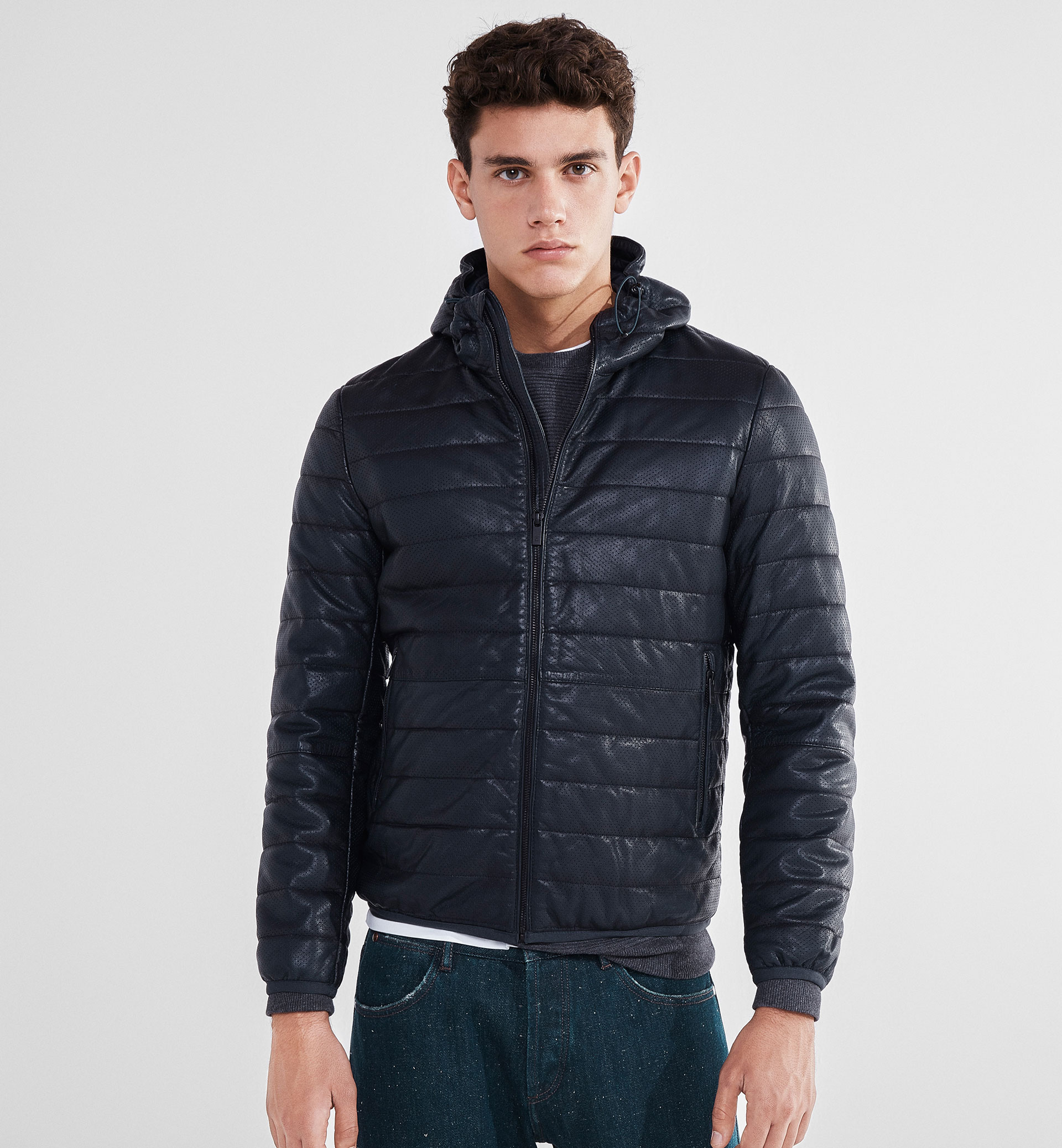 SOFT PERFORATED NAPPA JACKET