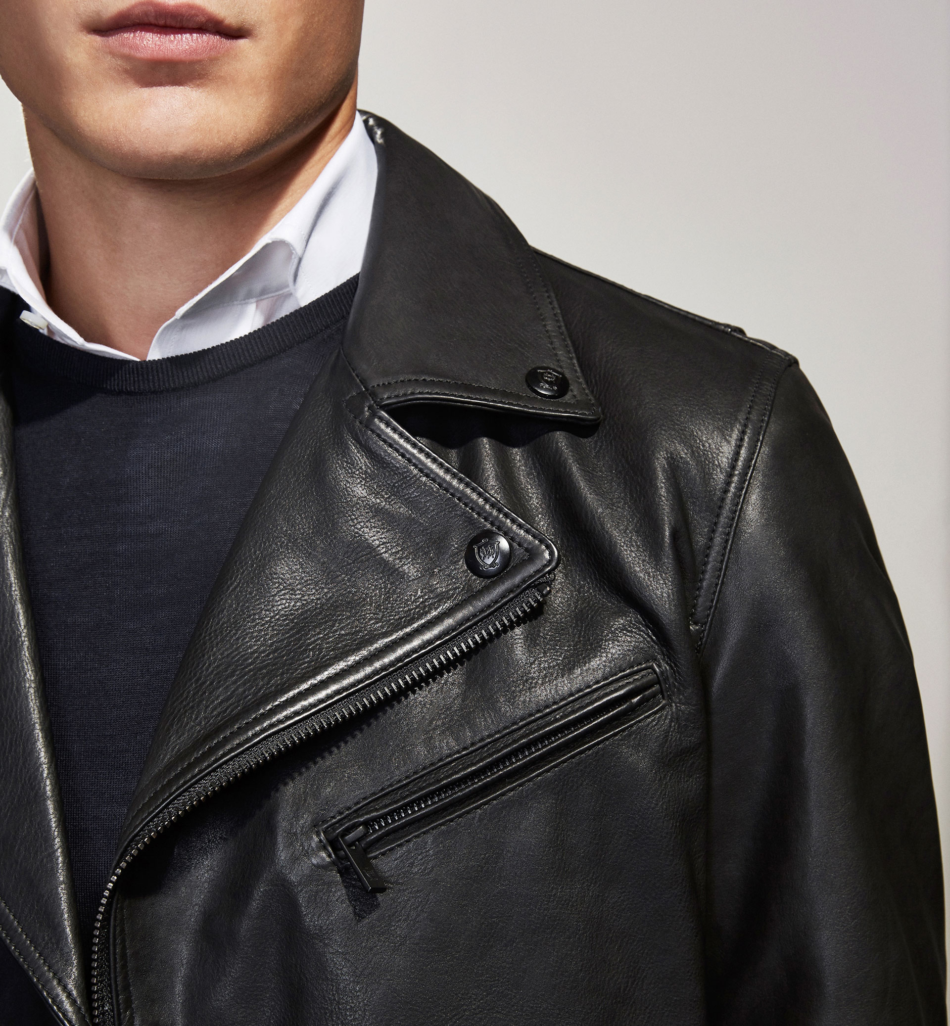 PERSONAL TAILORING BLACK NAPPA LEATHER JACKET
