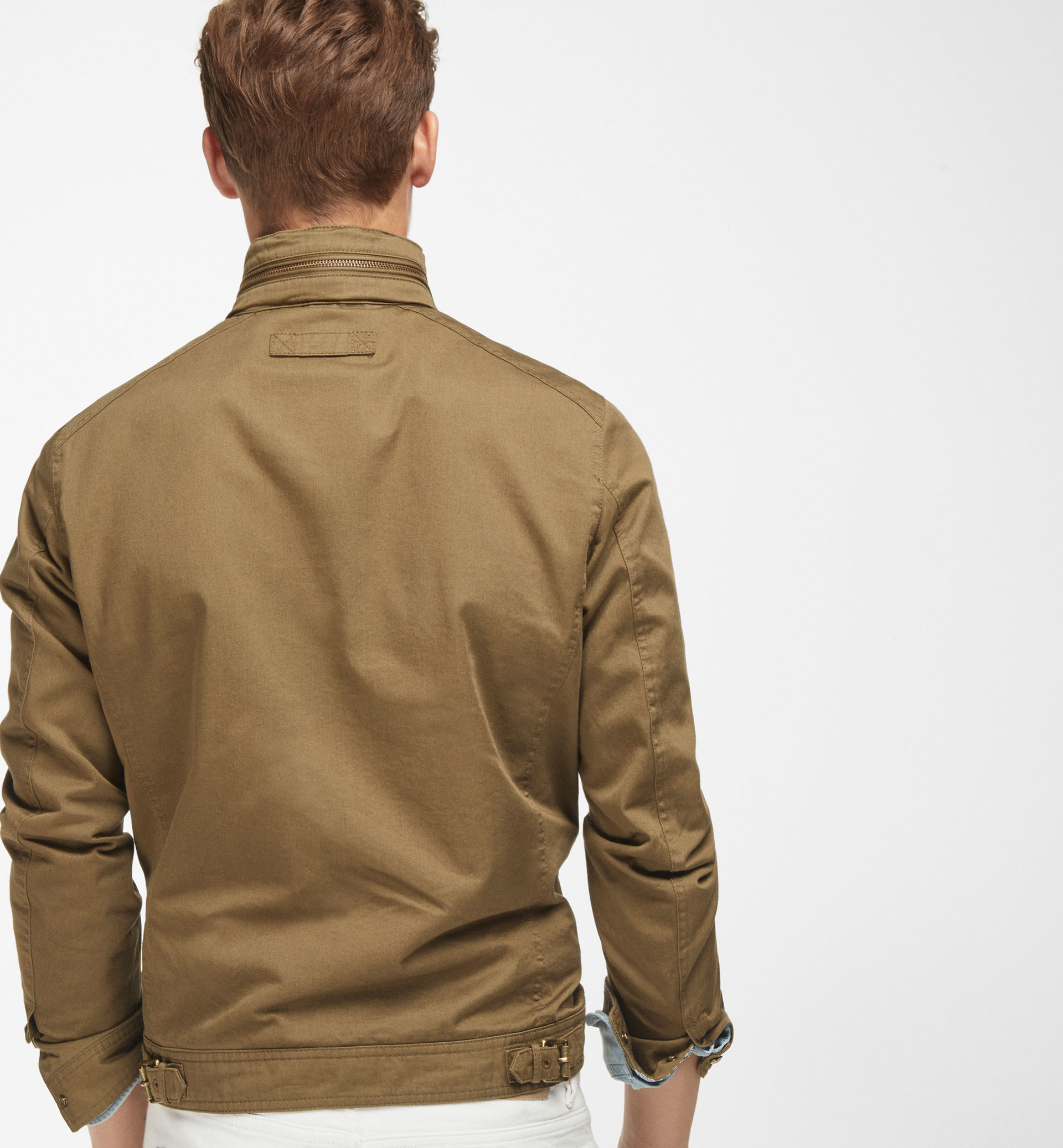 KHAKI COTTON JACKET