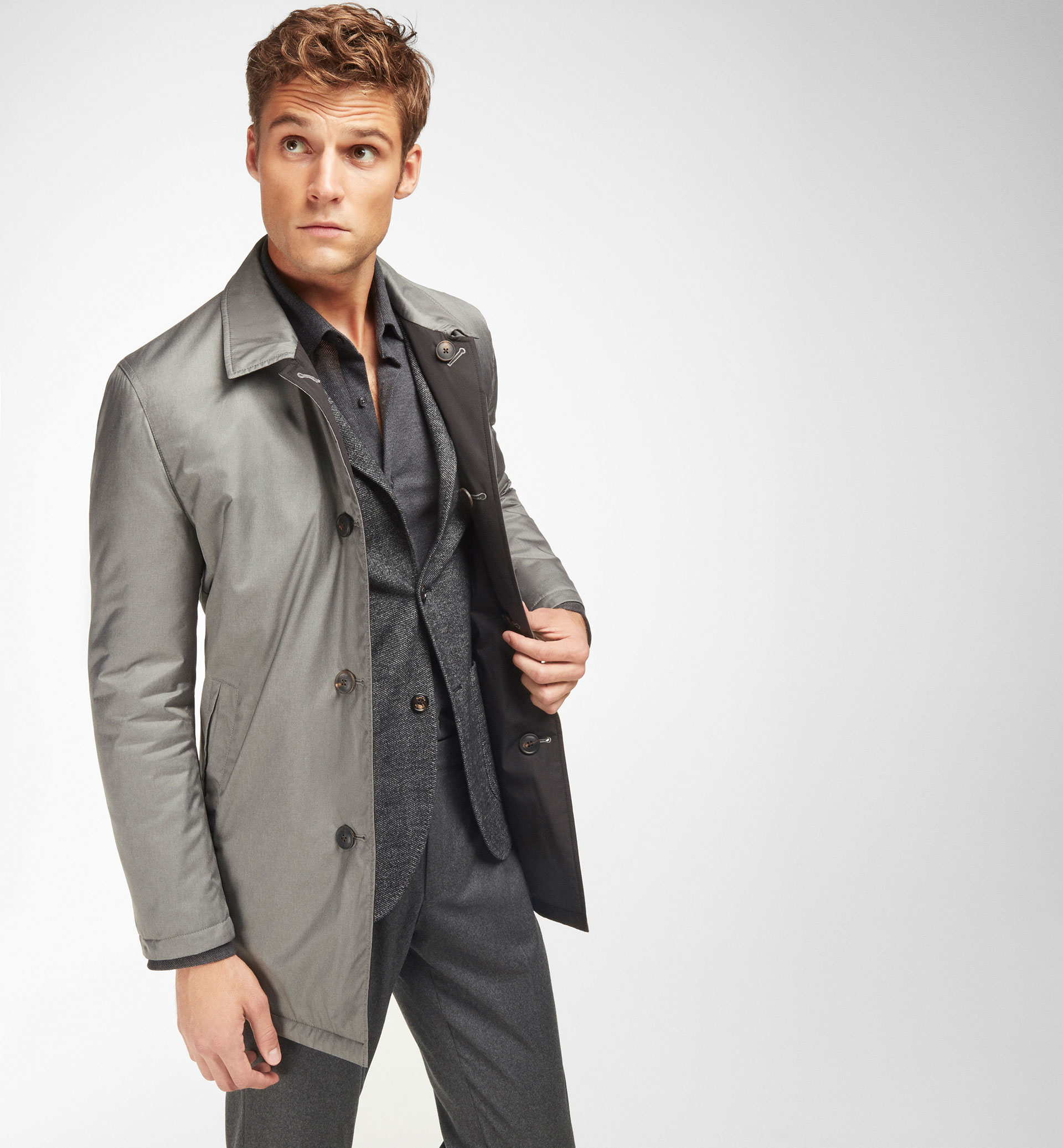 TECHNICAL REVERSIBLE TRENCH COAT