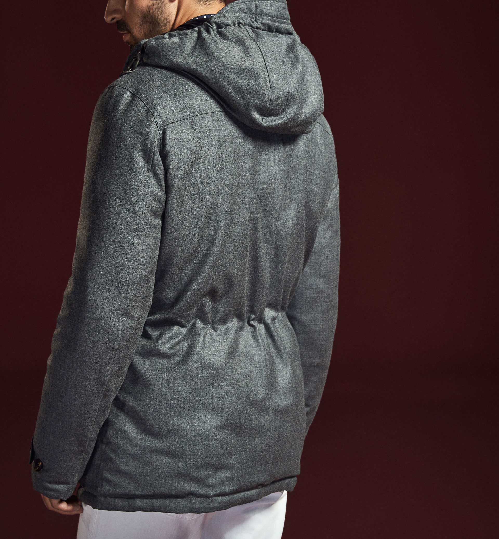 LIMITED EDITION REVERSIBLE GREY TECHNICAL TRENCH COAT