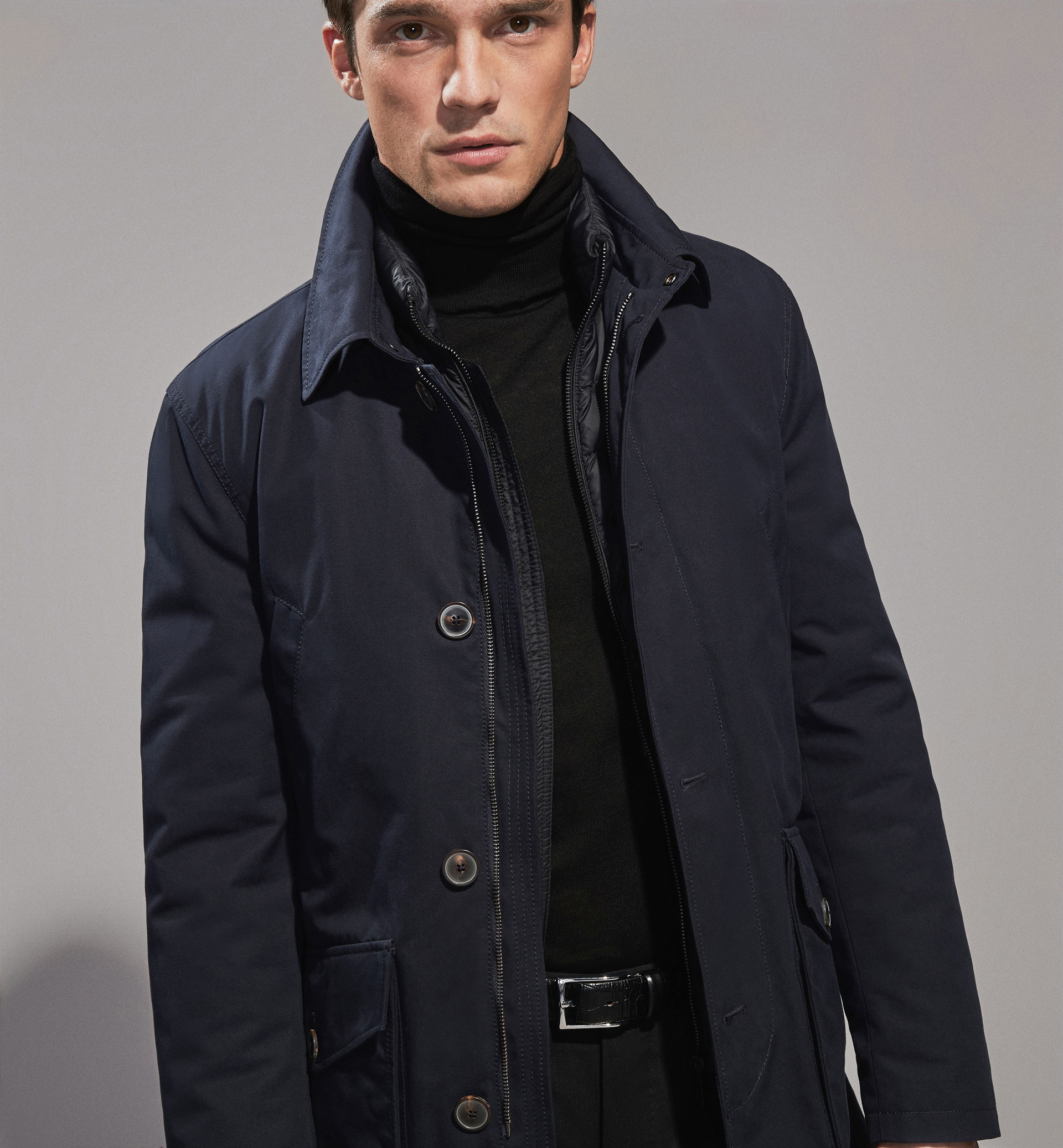 PERSONAL TAILORING TRENCH COAT WITH DETACHABLE HOOD