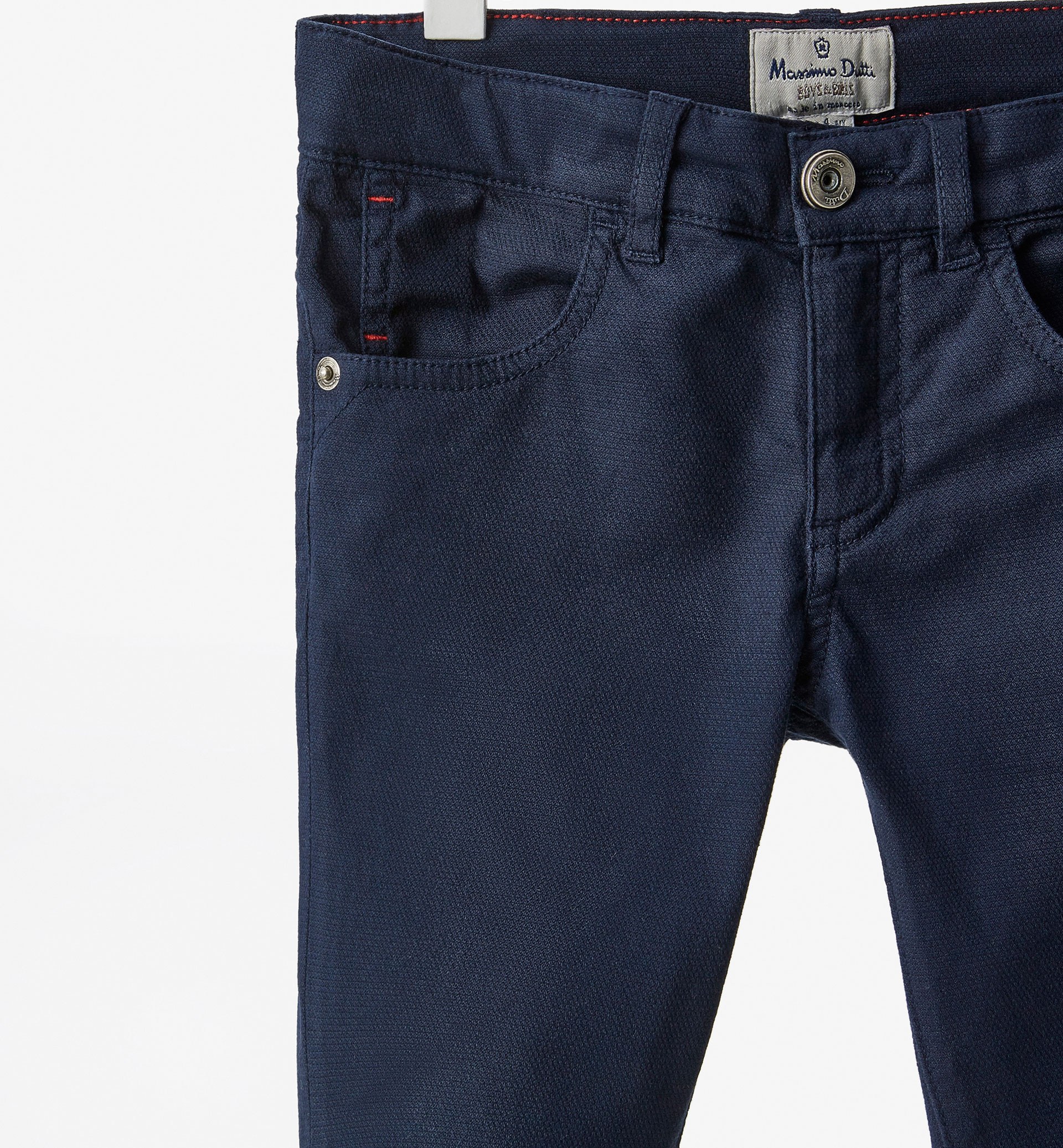 TEXTURED FIVE POCKET TROUSERS
