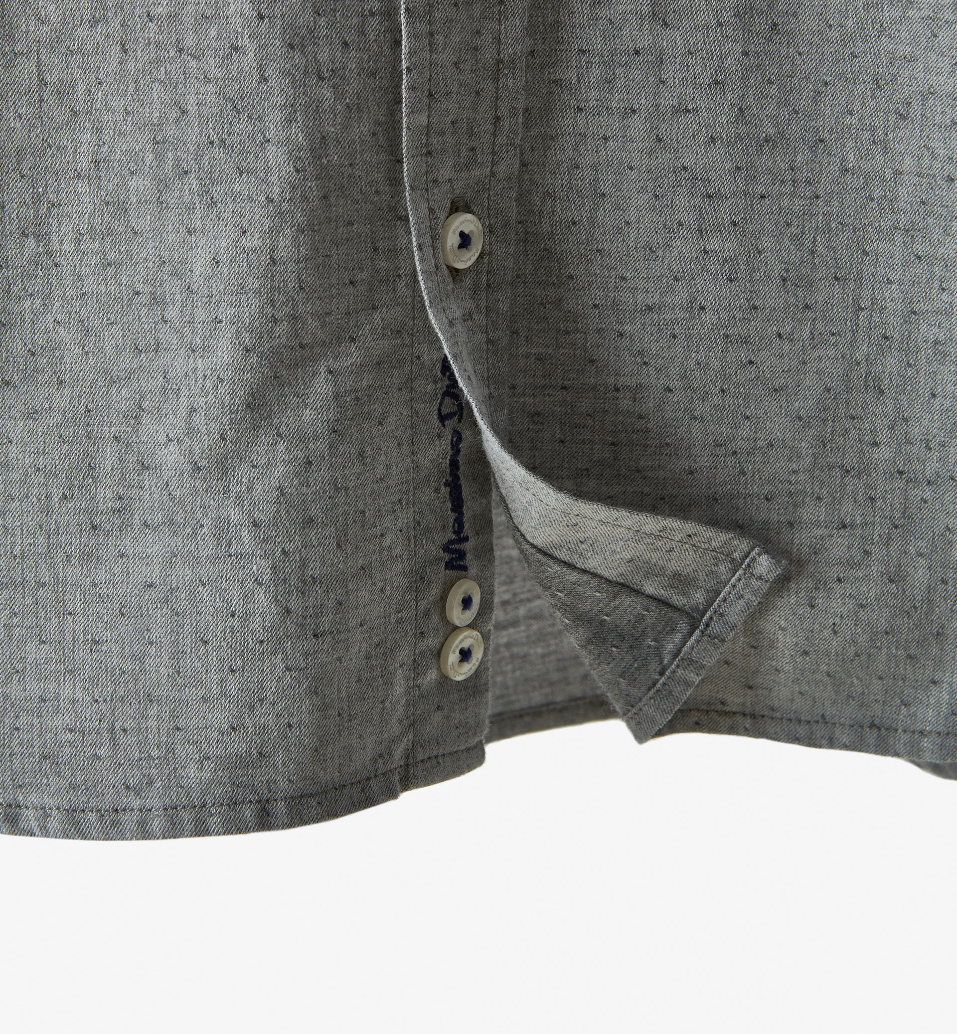 GREY SHIRT WITH ELBOW PATCH DETAIL
