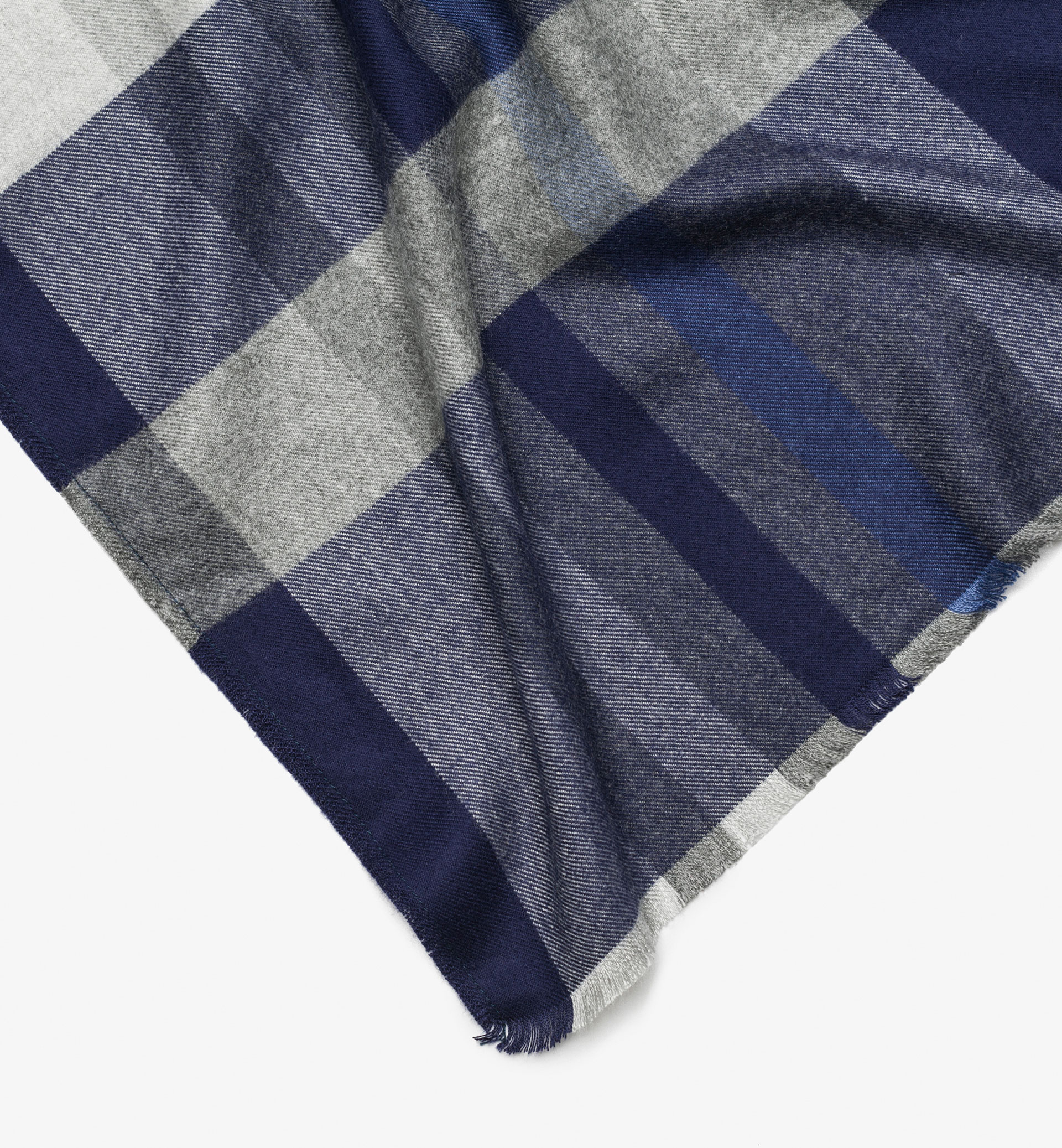 RED DETAIL CHECKED FOULARD