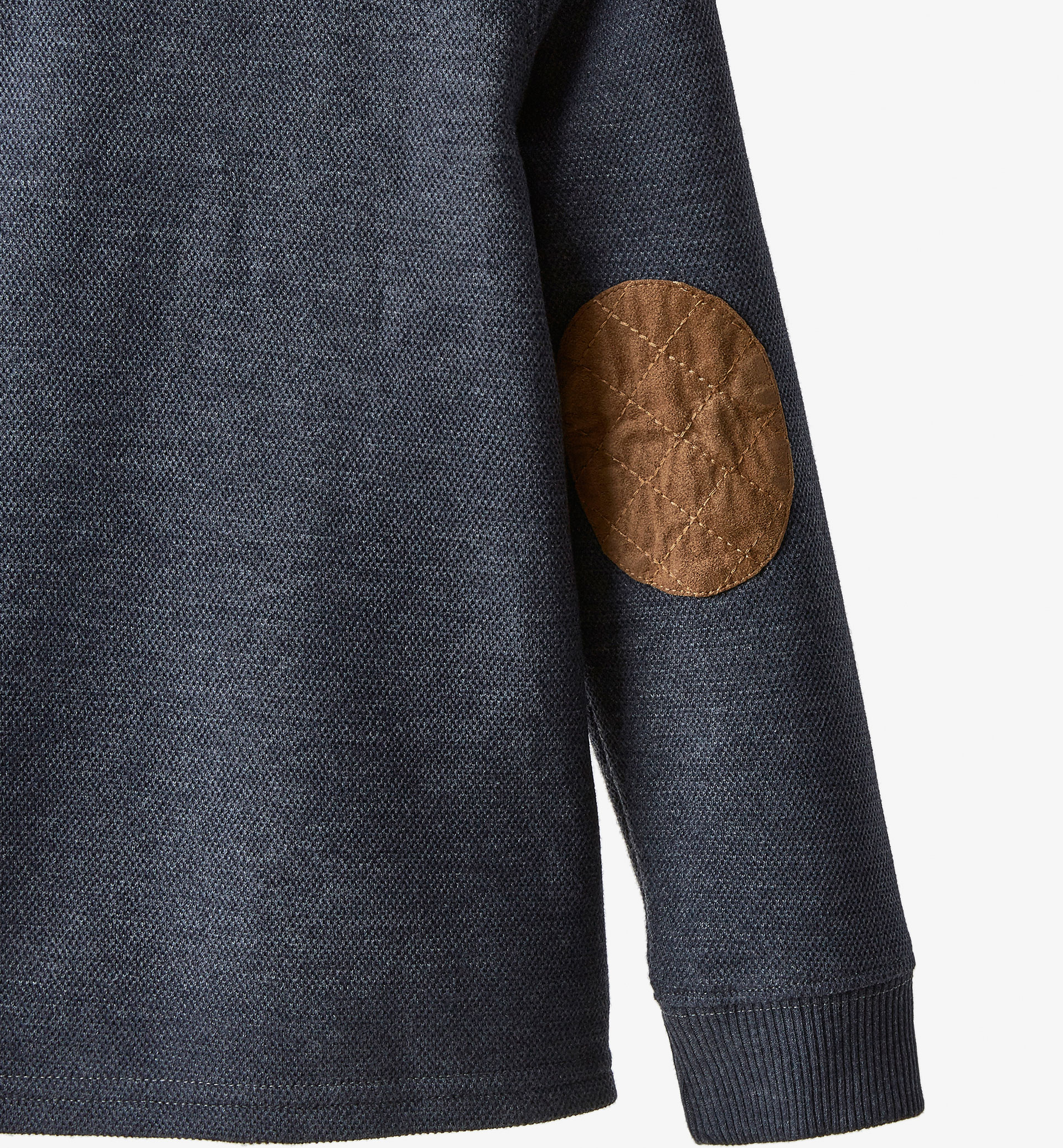 POLO SHIRT WITH ELBOW PATCHES