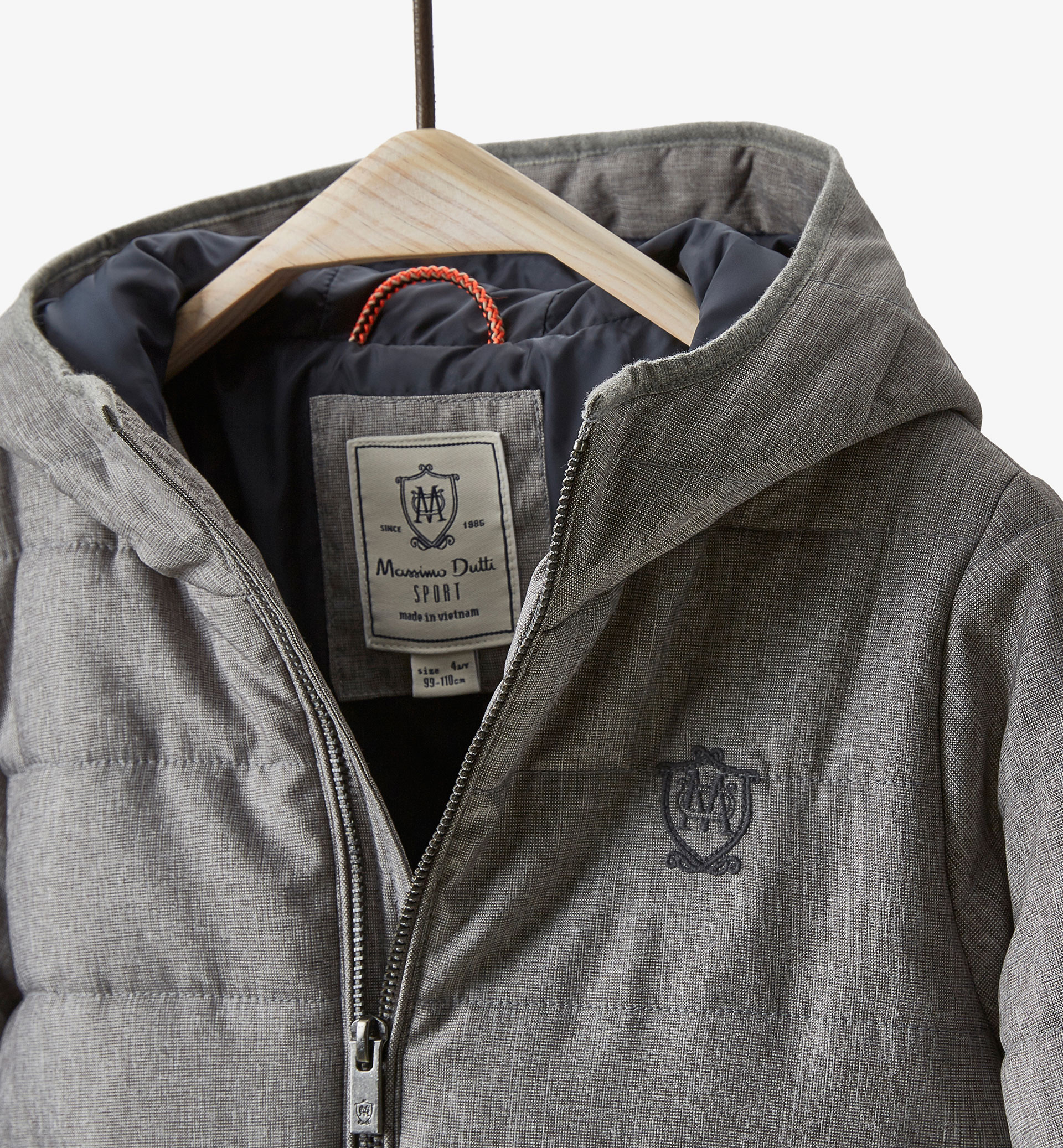 GREY QUILTED JACKET