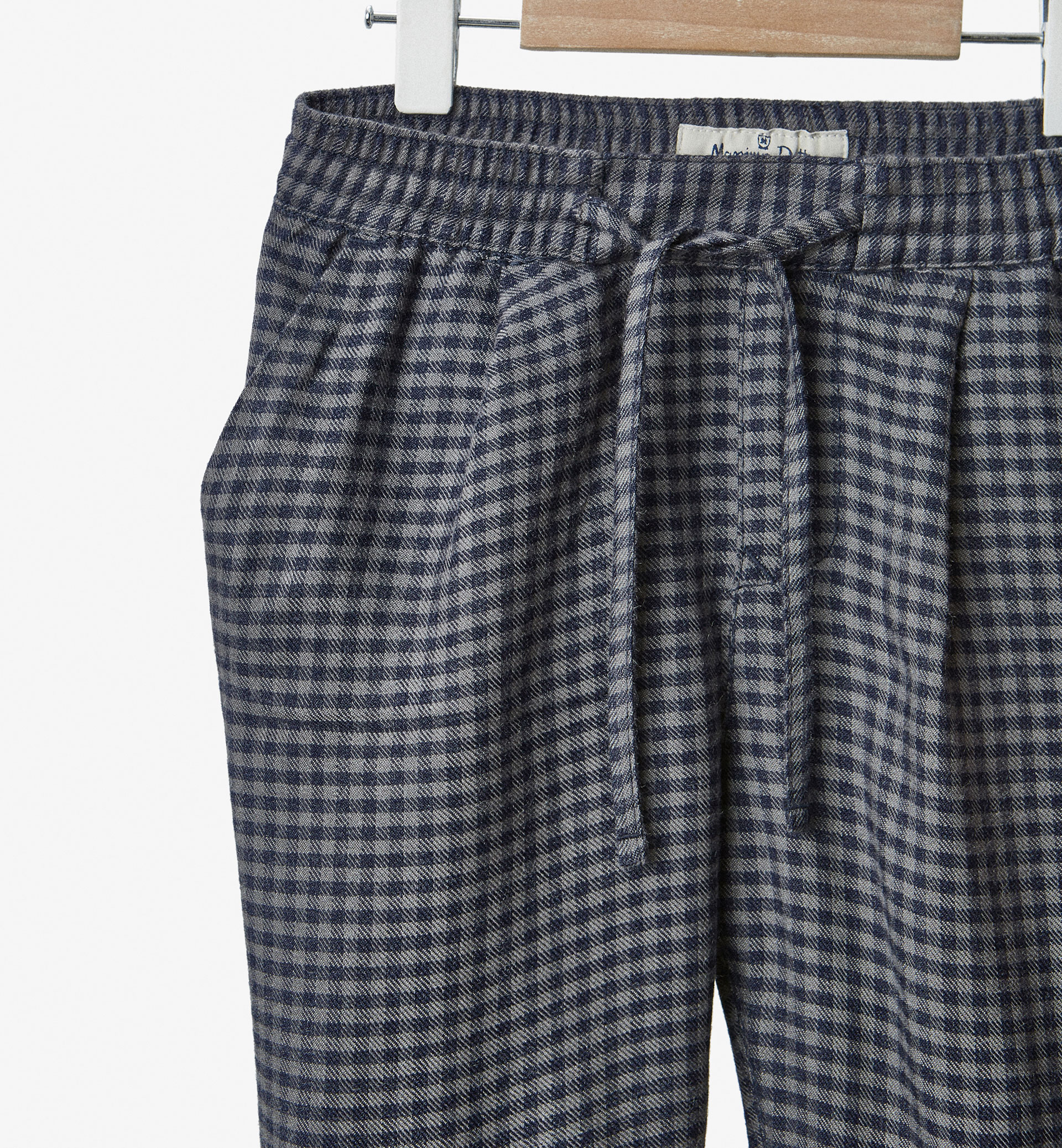 FLOWING CHECKED TROUSERS