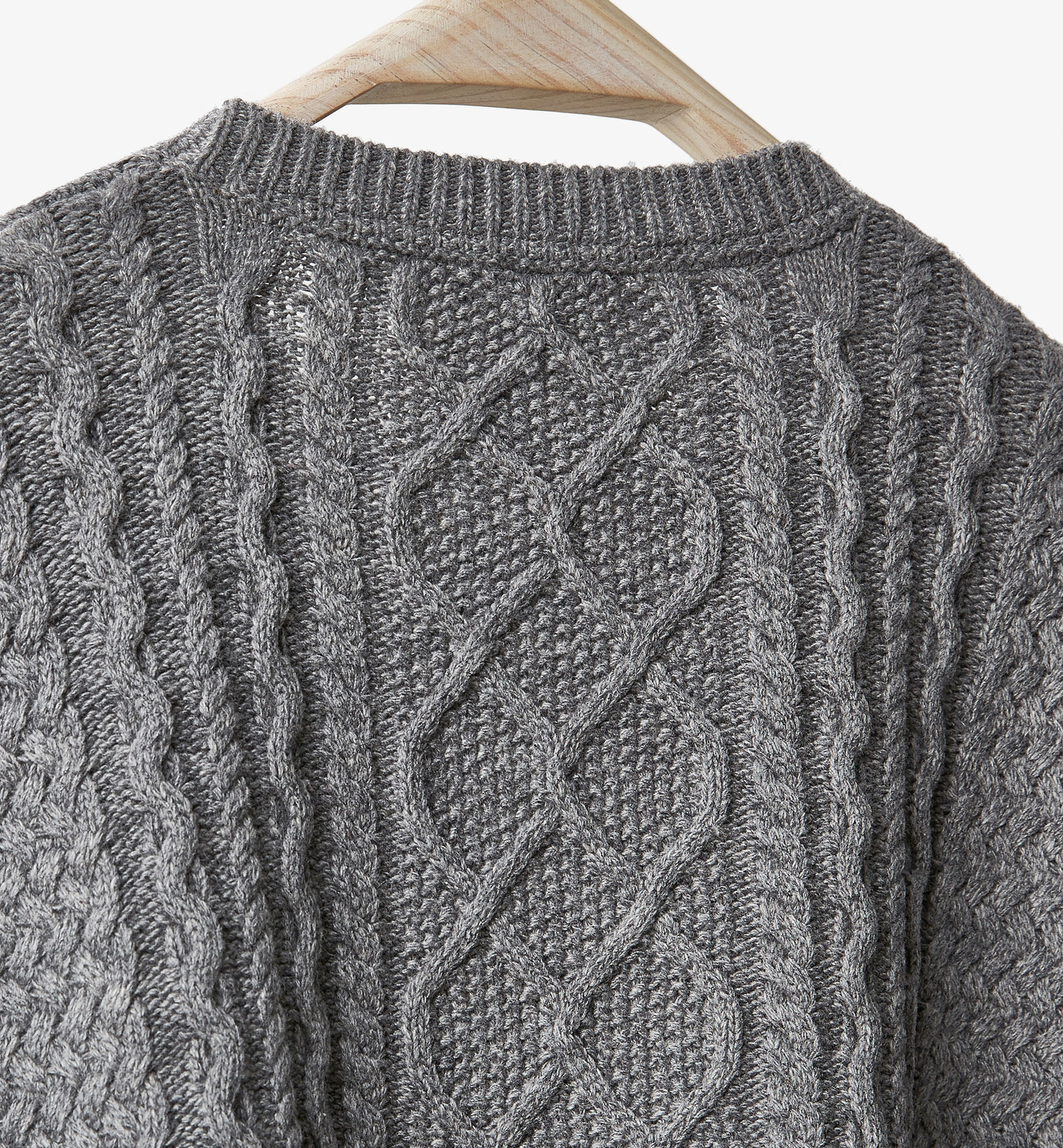 GREY CAPE WITH BRAIDING DETAIL